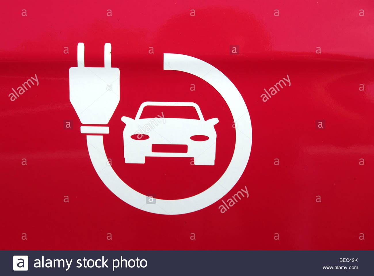 Electric Car Symbol Stockfotos & Electric Car Symbol Bilder - Alamy