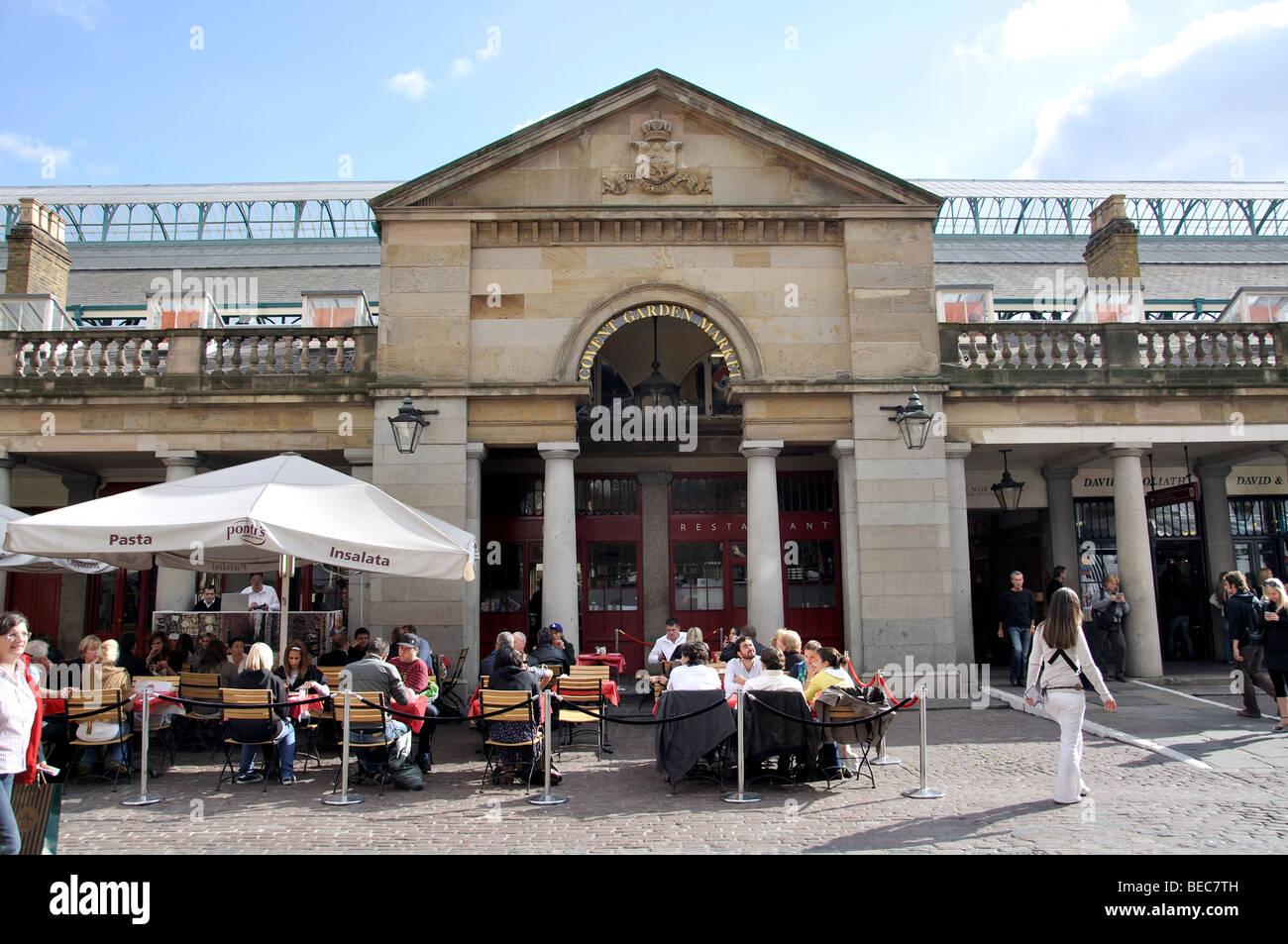 Cafes restaurants covent garden market stockfotos cafes for Cafe de jardin in covent garden