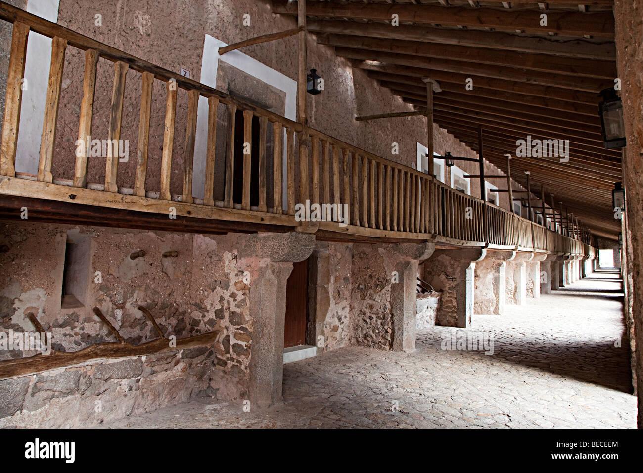 Zellen im Kloster unserer lieben Frau von Lluc Mallorca Spanien Stockbild