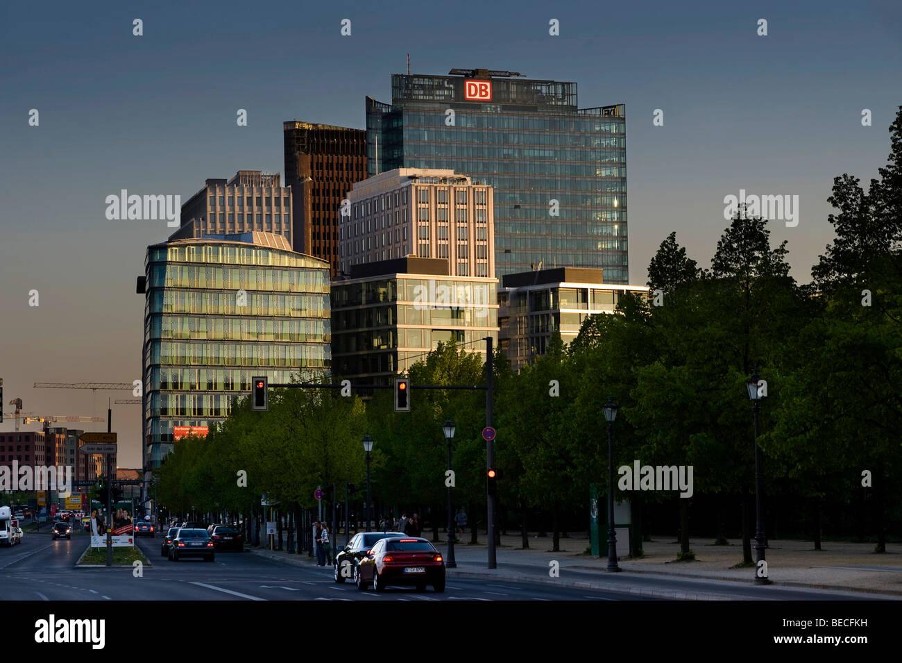 Hochhäuser am Potsdamer Platz, Potsdamer Platz, Berlin, Deutschland, Europa Stockbild