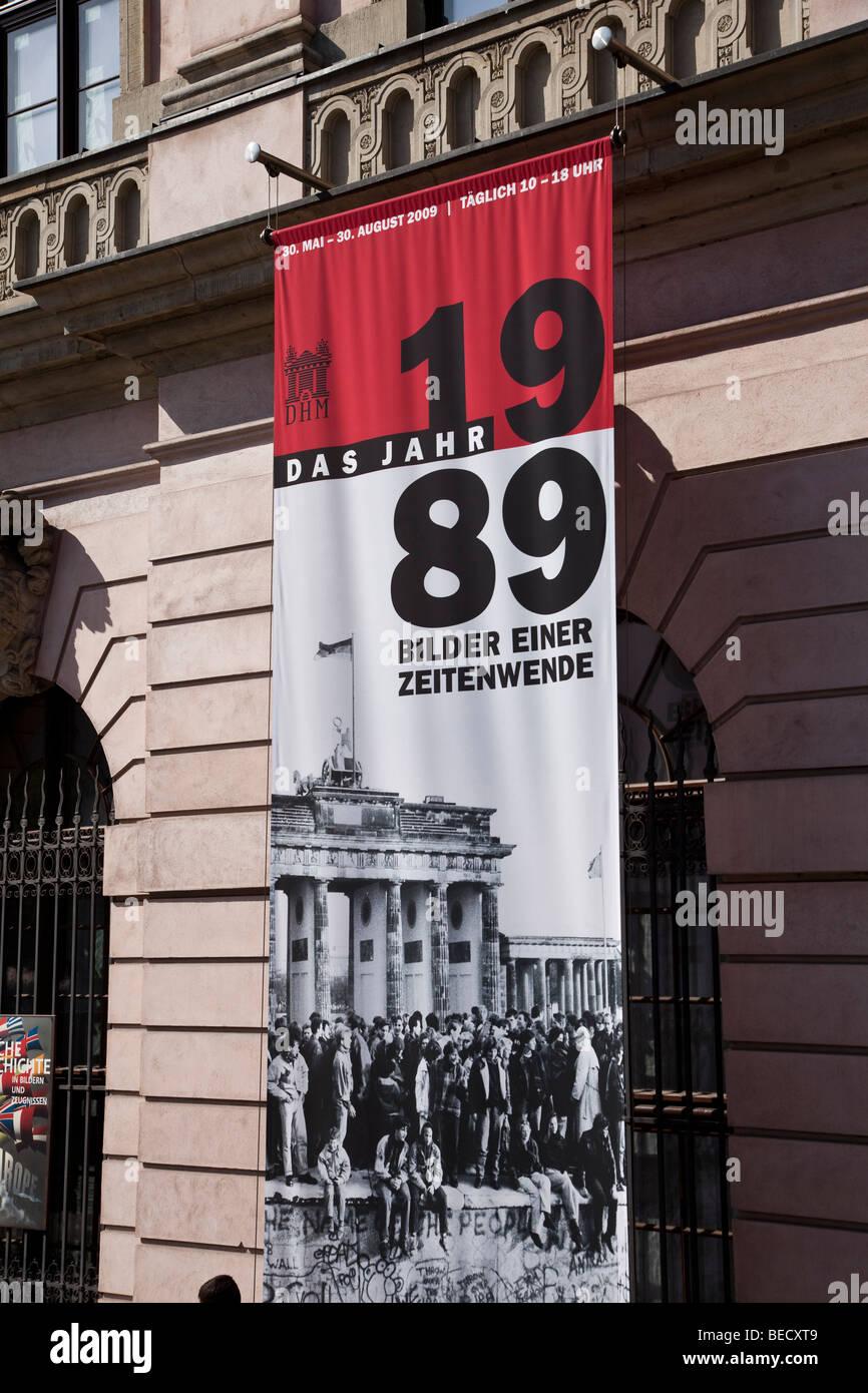 Berlin - 2009, feiert 20 Jahre Mauerfall Stockbild
