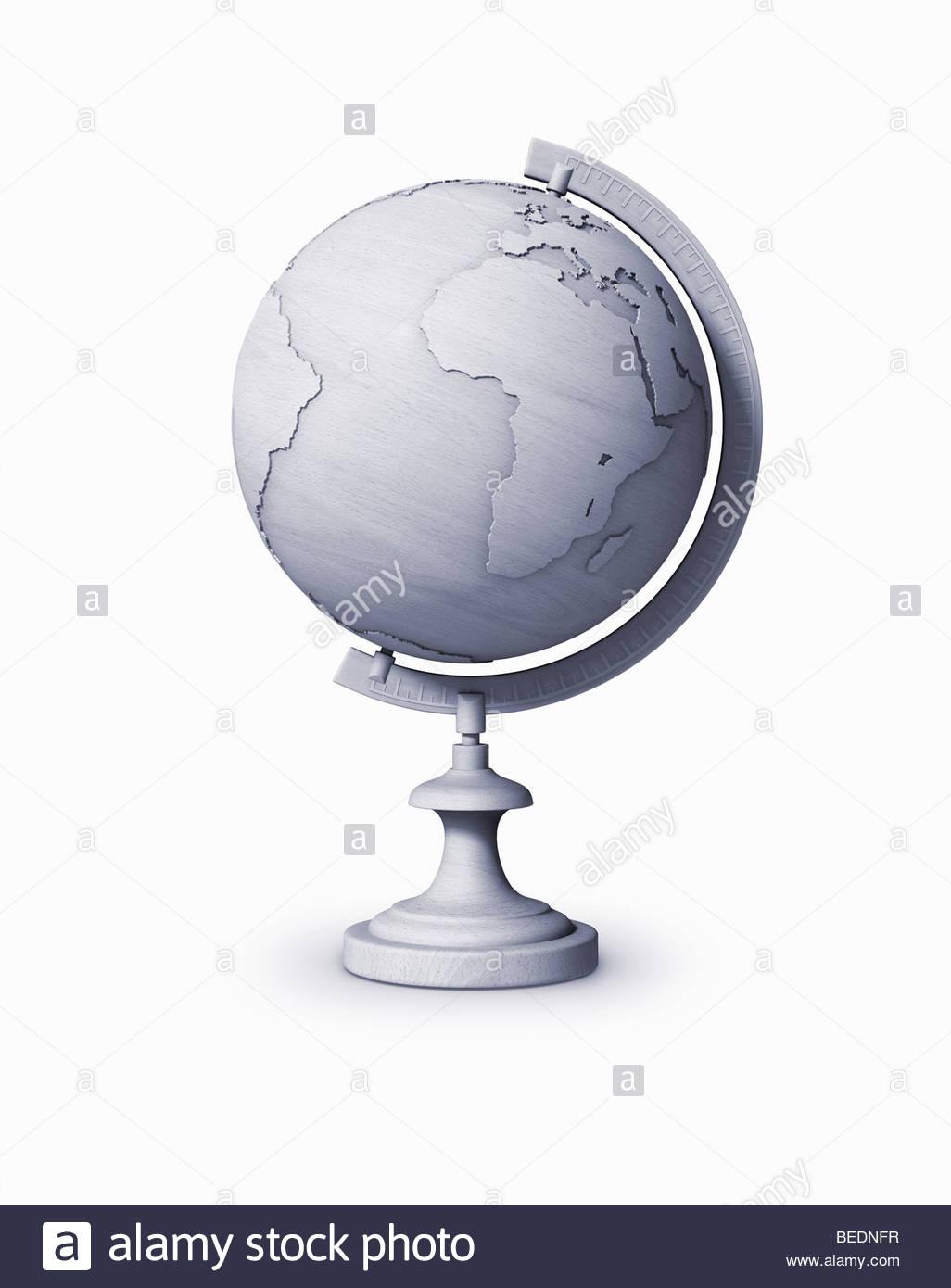 Grauer Globus Stockbild