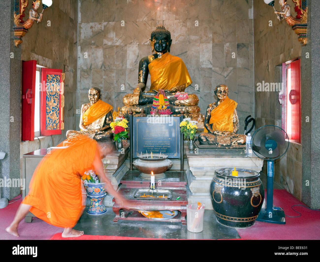 Wat Ladthiwanaram Buddhistentempel Chalong Phuket Island Southern Thailand Südostasien Stockbild