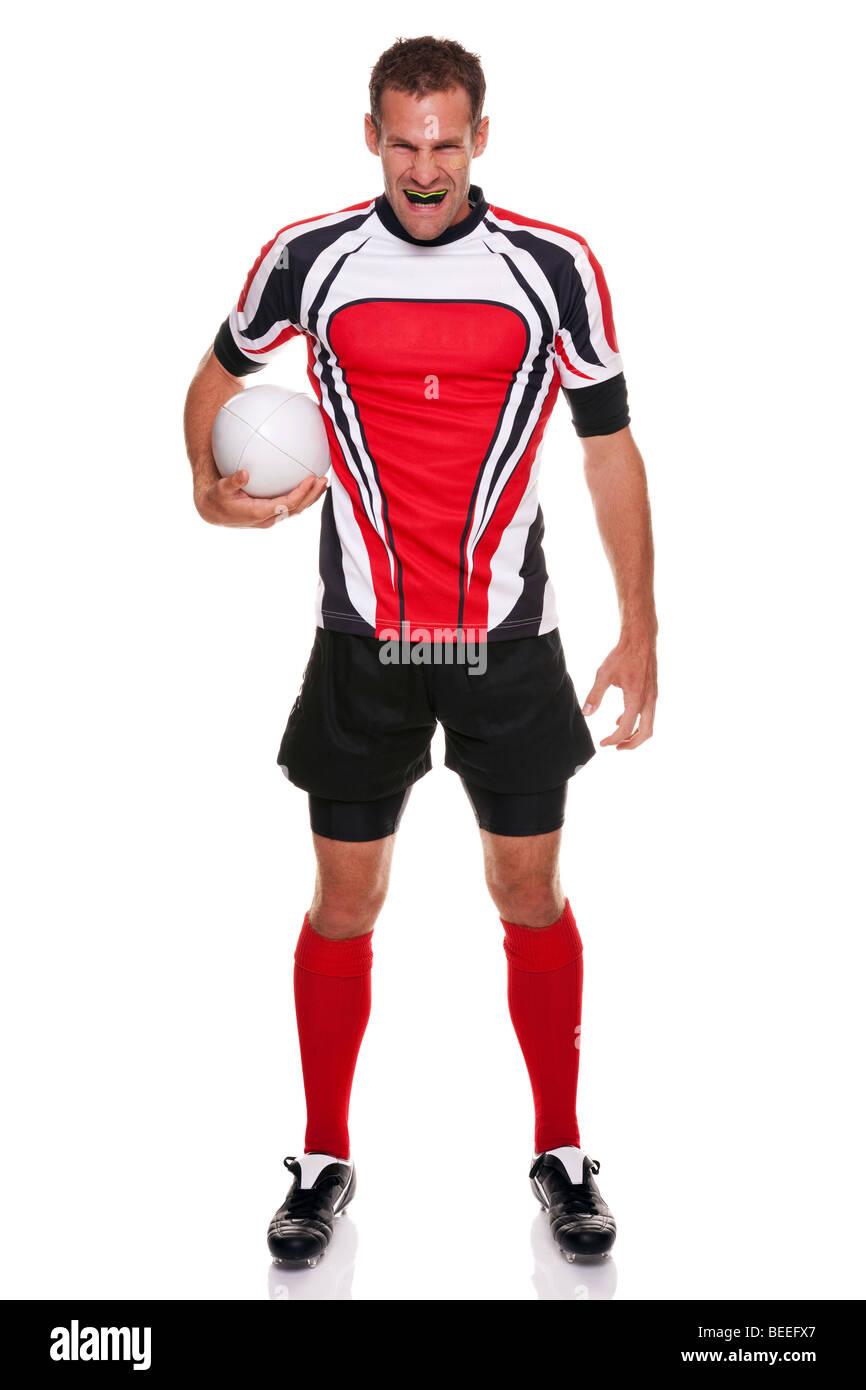 Rugby-Spieler - Teil einer Serie Stockbild