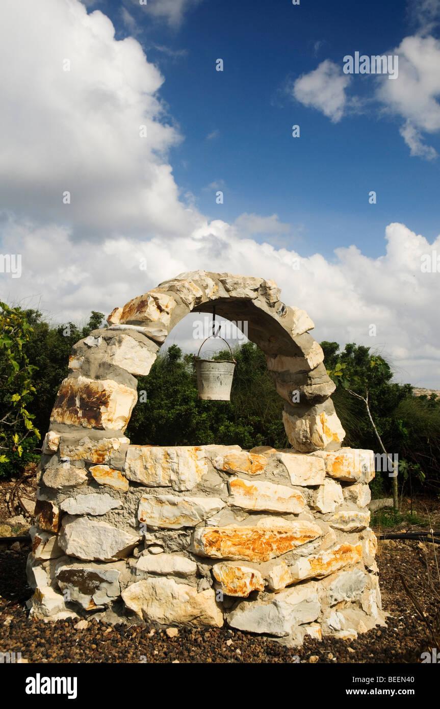 Dekorative Stein Brunnen Stockbild