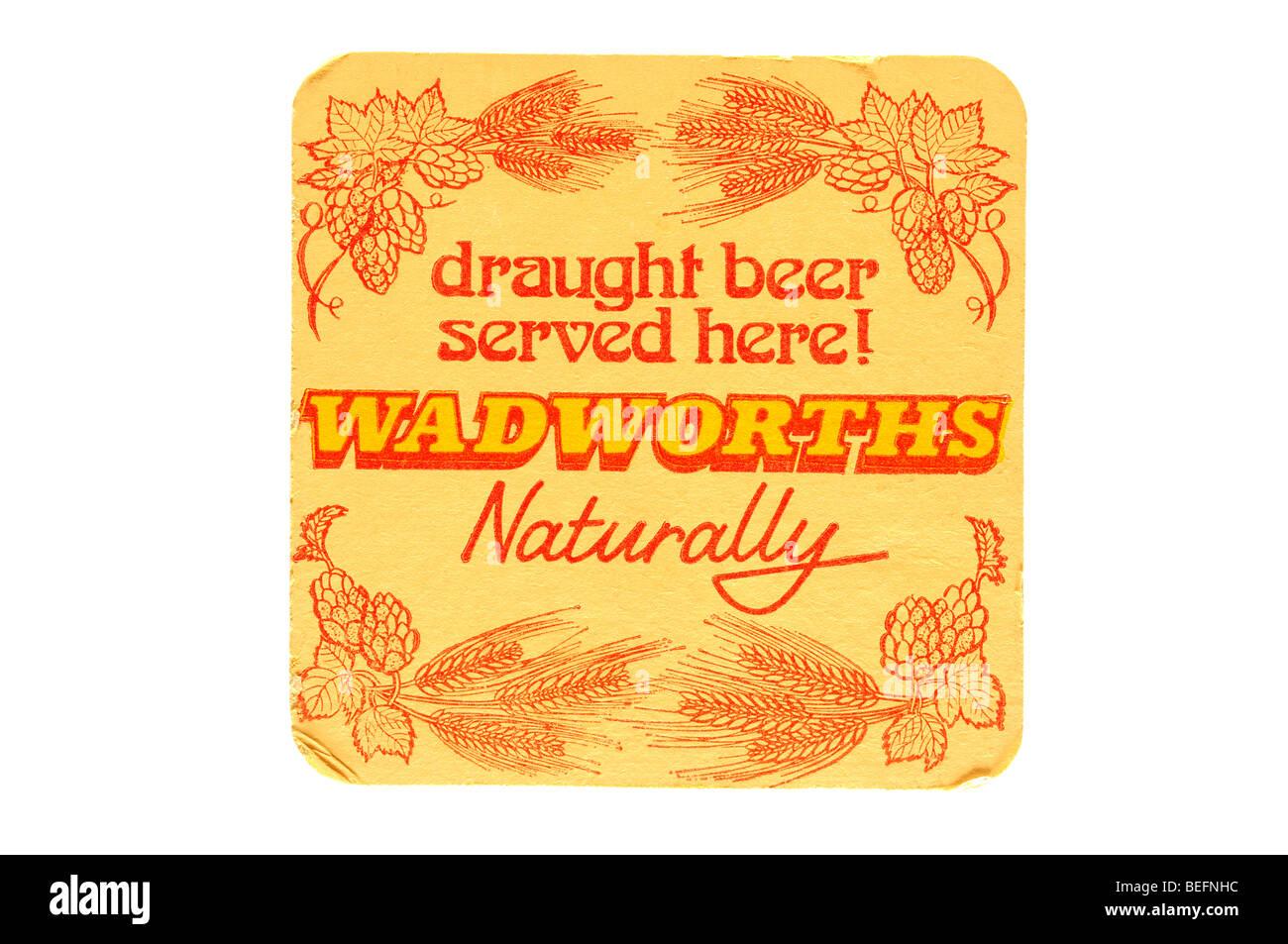 frisch gezapftes Bier serviert hier Wadworths natürlich Stockbild