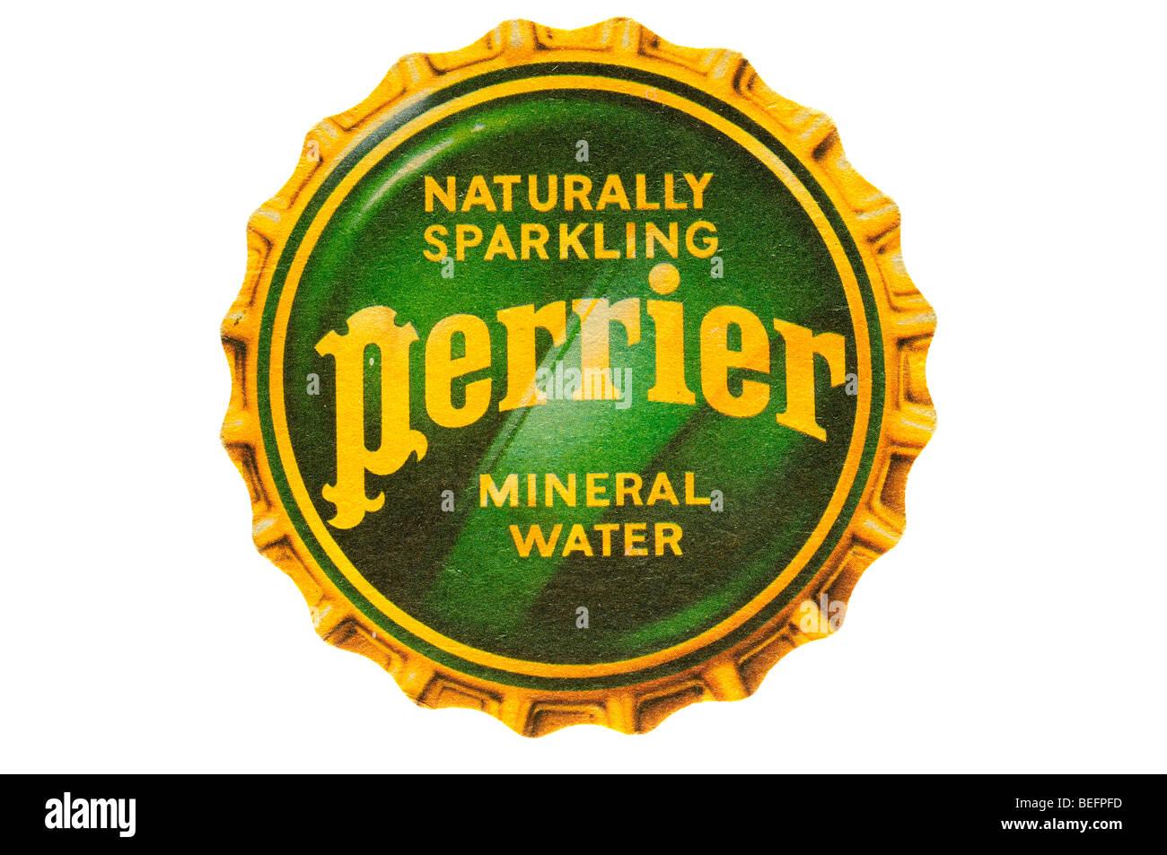 Natürlich Perrier Mineralwasser Stockbild