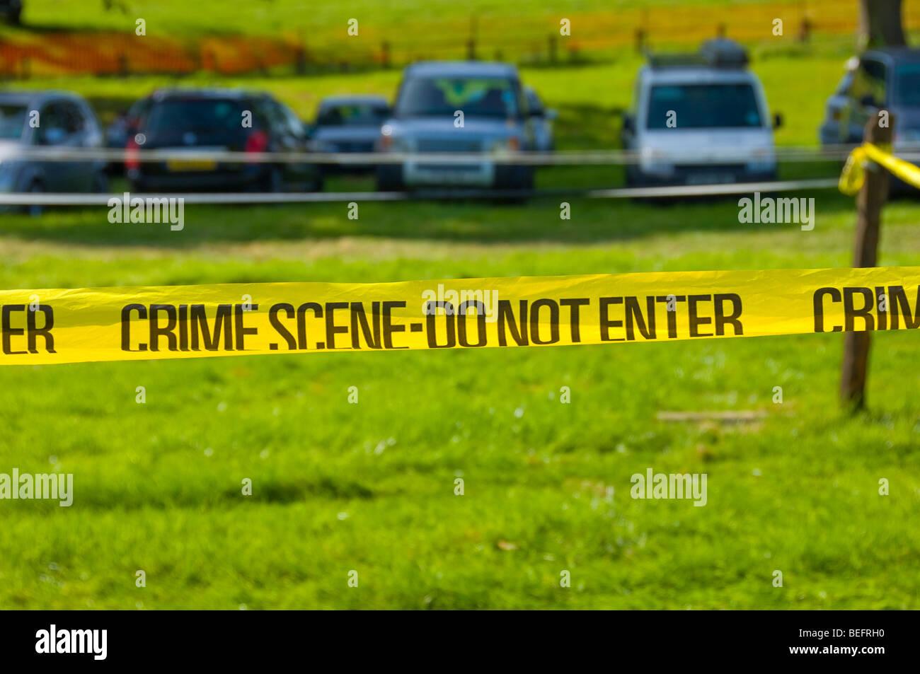 Mit Klebeband aus Polizei Tatort geben Sie keine Bereich England UK United Kingdom GB Great Britain Stockbild