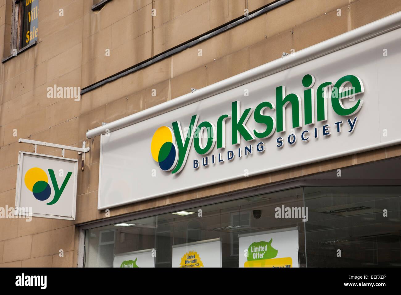 England, UK, Europa. Yorkshire Building Society Zeichen Stockbild