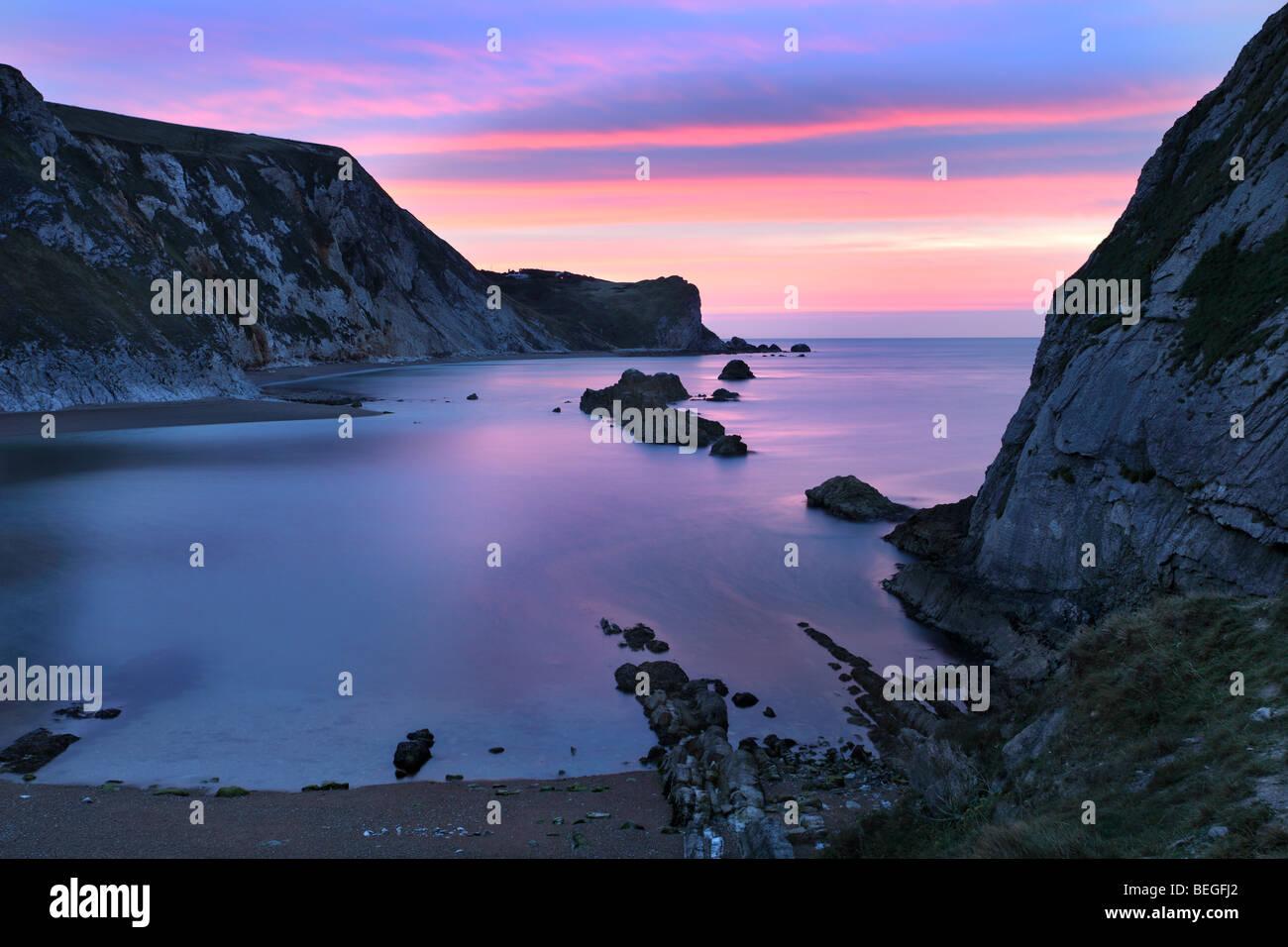 Man O' War, Küste von Dorset. Stockbild