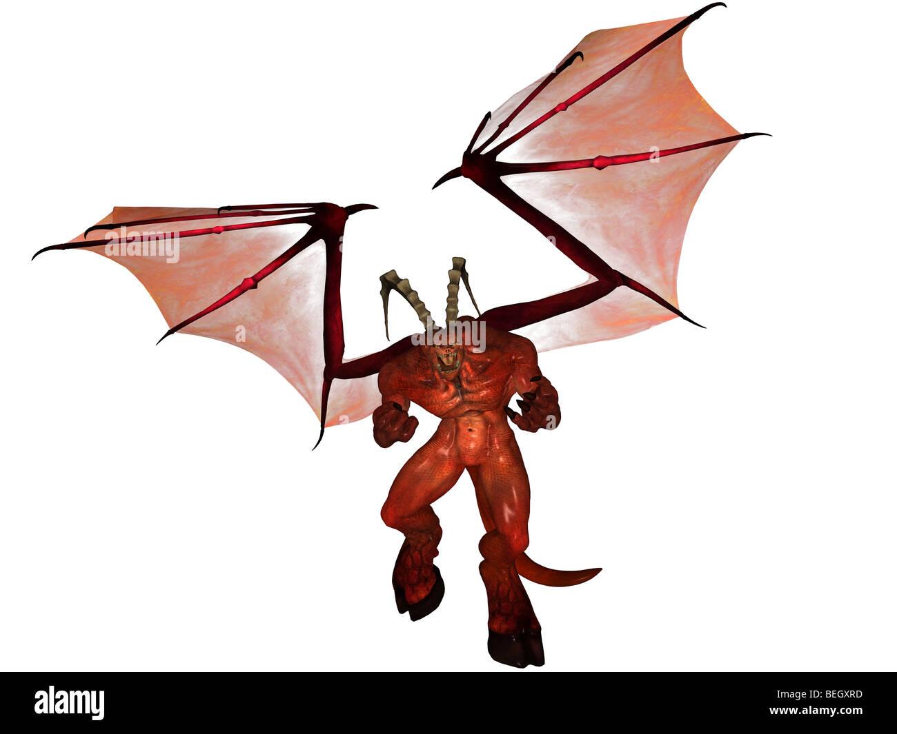 3D gerendert Dämon Stockbild