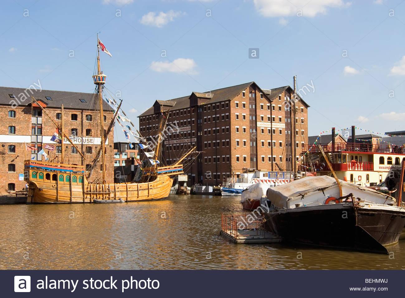 Das Nationalmuseum für die Wasserstraßen in den Docklands von Gloucester Stockbild