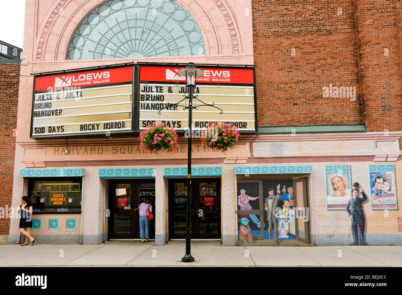 Kino Cambridge, Massachusetts Stockbild