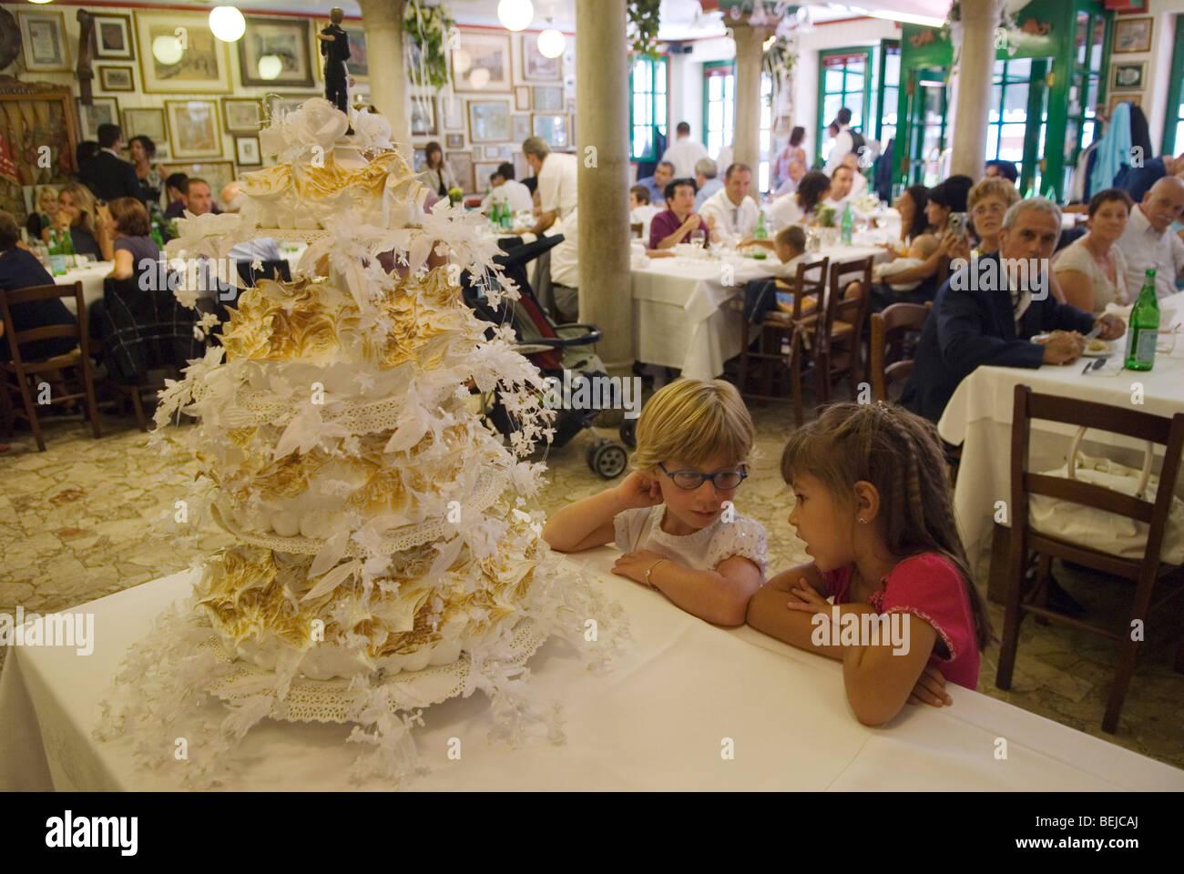 Venedig Italien Interior Restaurant Insel Burano Kinder Mit