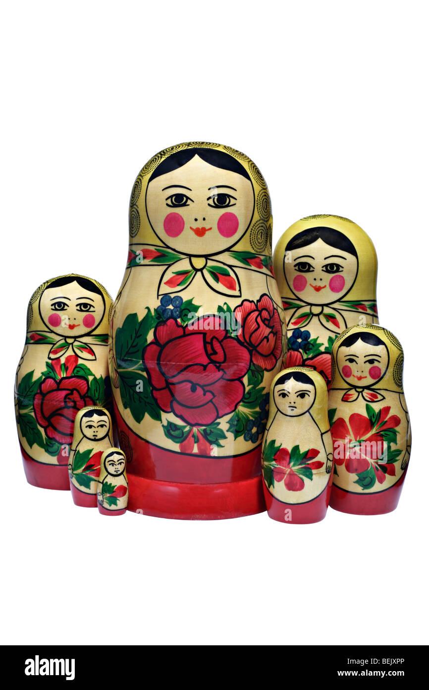 Matroschkas, Russische Puppen Stockbild