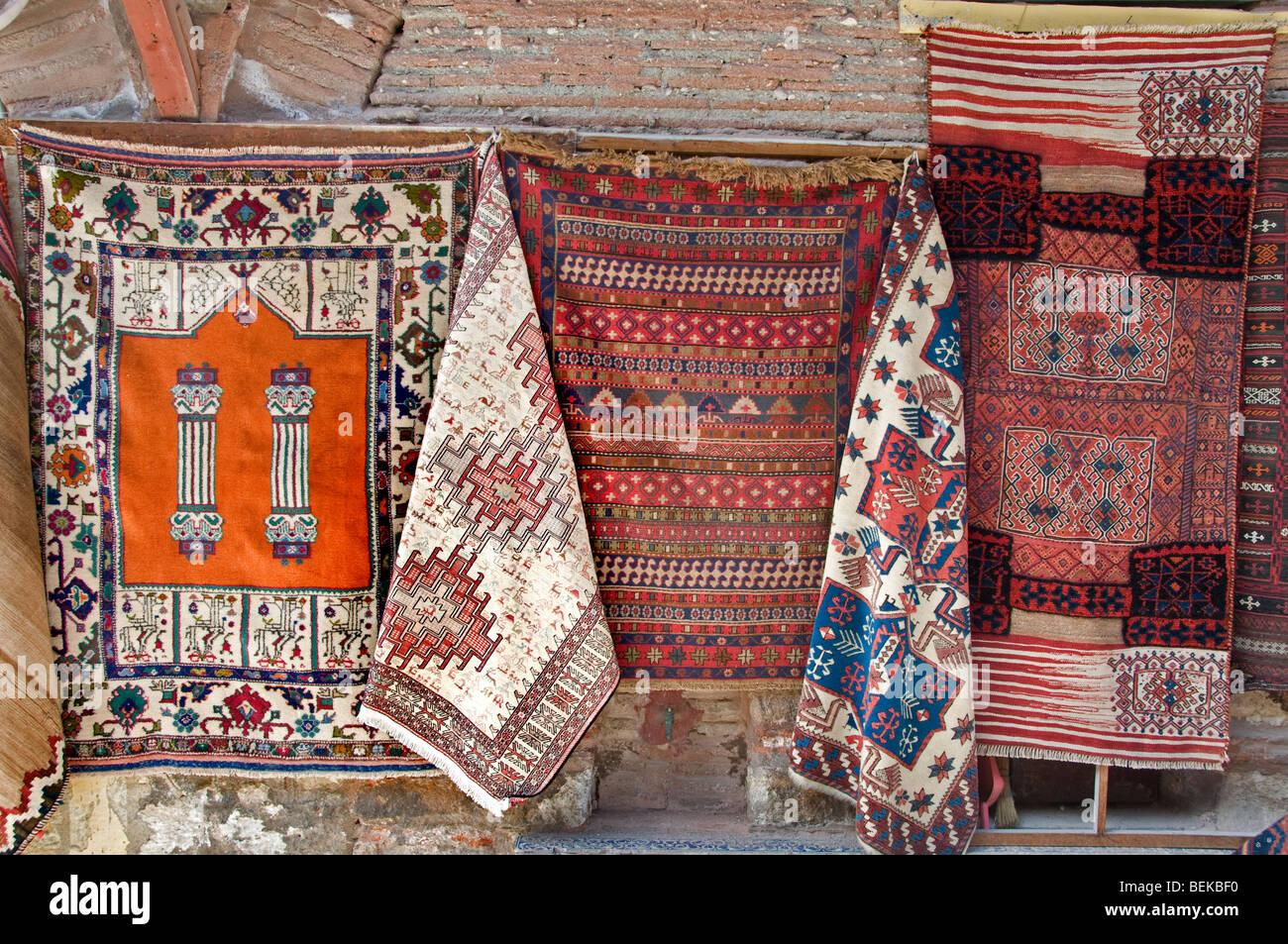 Sultanahmet Istanbul Türkei Teppich Teppiche shop Stockbild