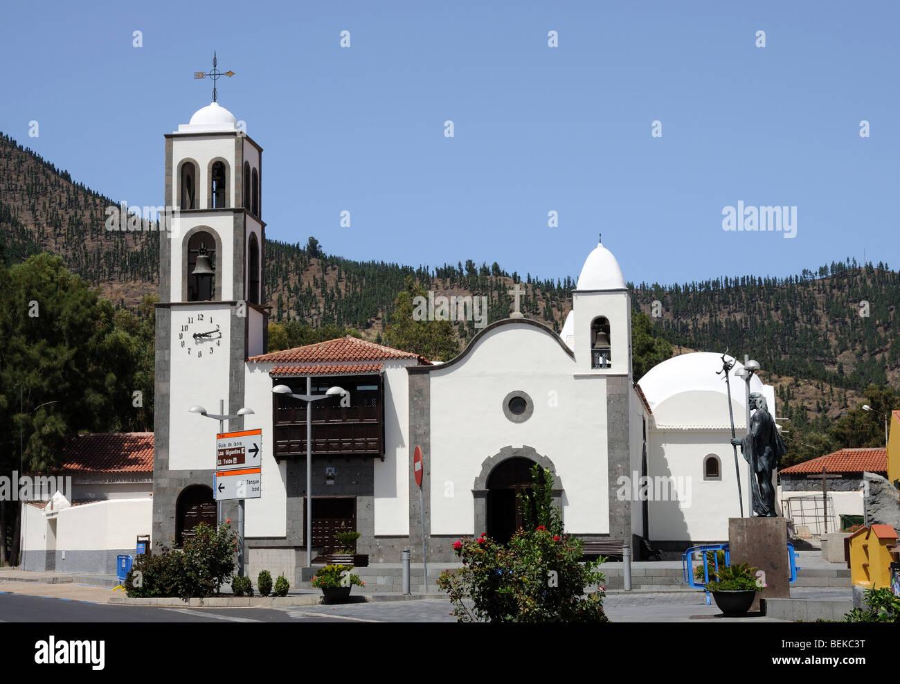 Kirche in Santiago del Teide, Kanarische Inseln-Teneriffa, Spanien Stockbild