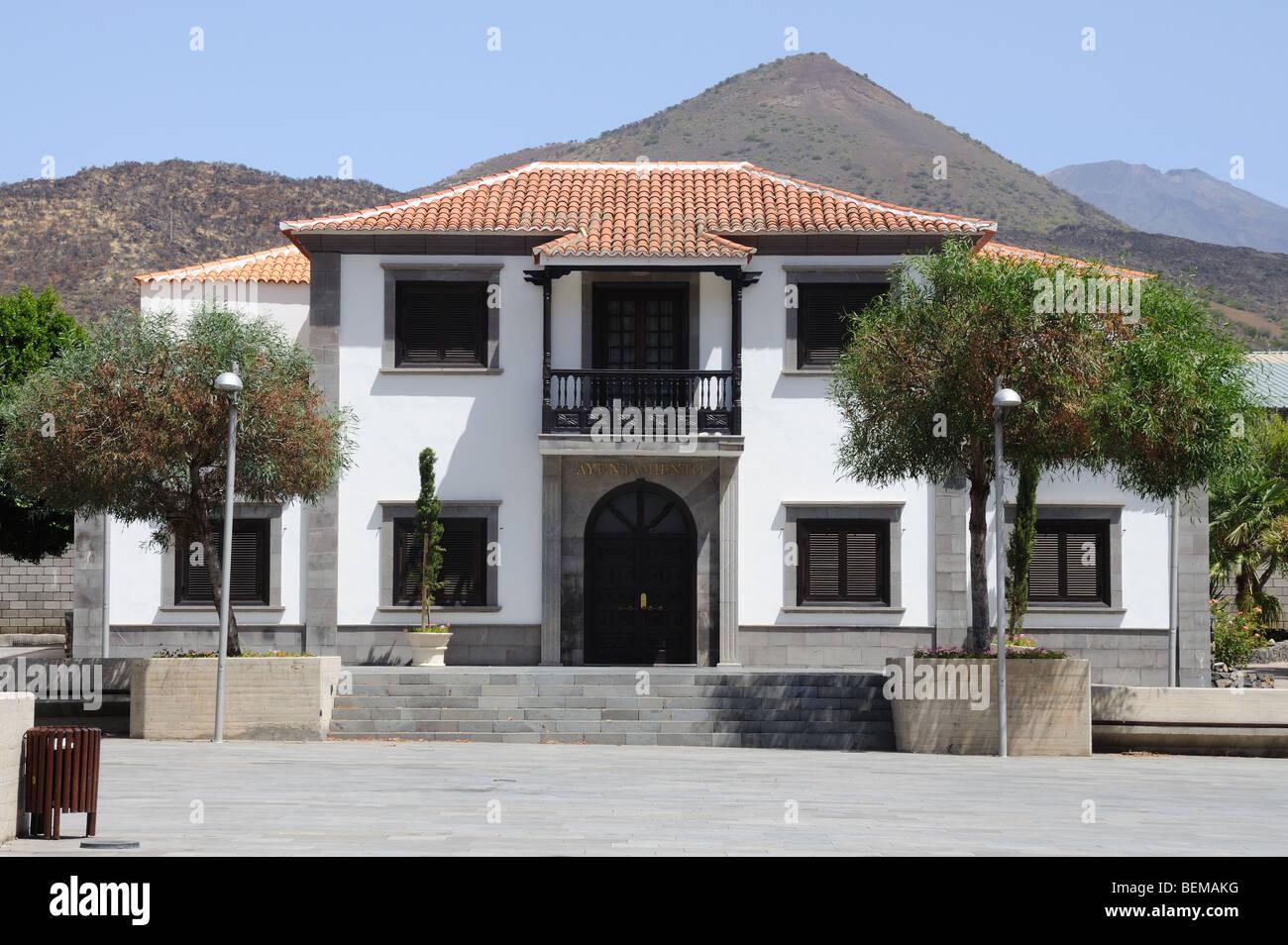 Rathaus von Santiago del Teide, Kanarische Inseln-Teneriffa, Spanien Stockbild