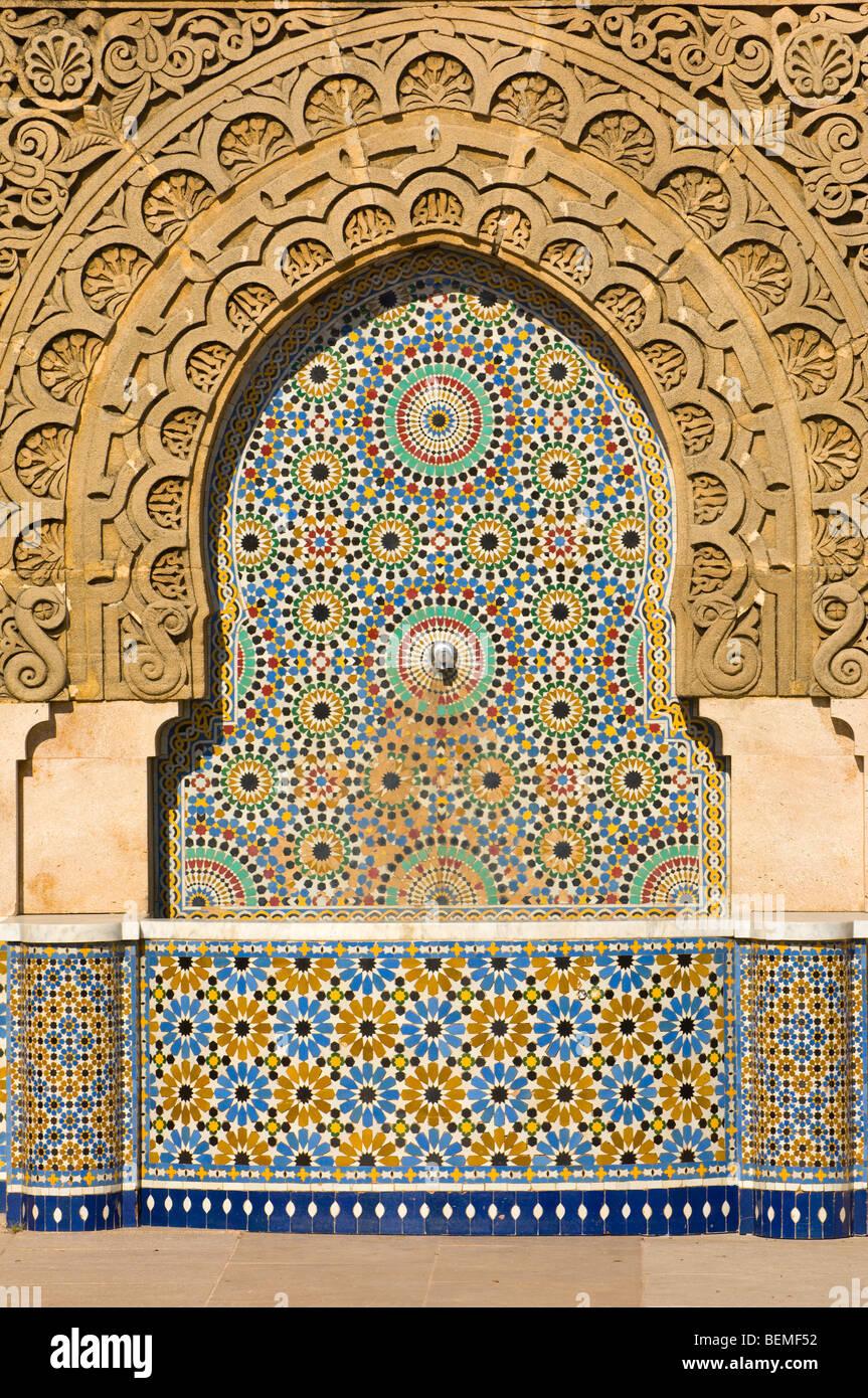 Mausoleum von Mohammed V in Rabat, Marokko, Afrika Stockbild