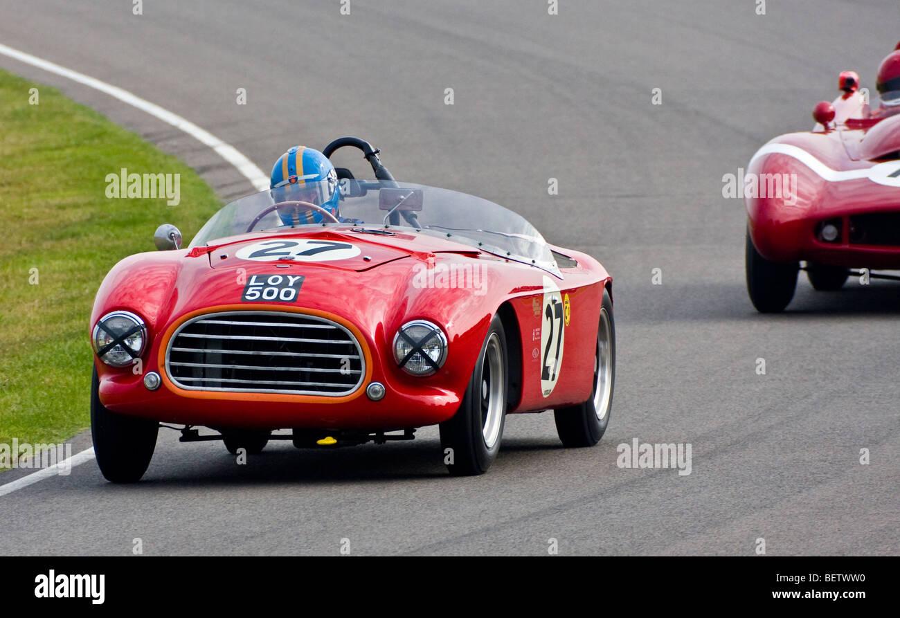 1953 Tojeiro-Bristol mit Nick Wigley Fahrer während des Rennens Madgwick Cup 2009 beim Goodwood Revival, Sussex, Stockbild