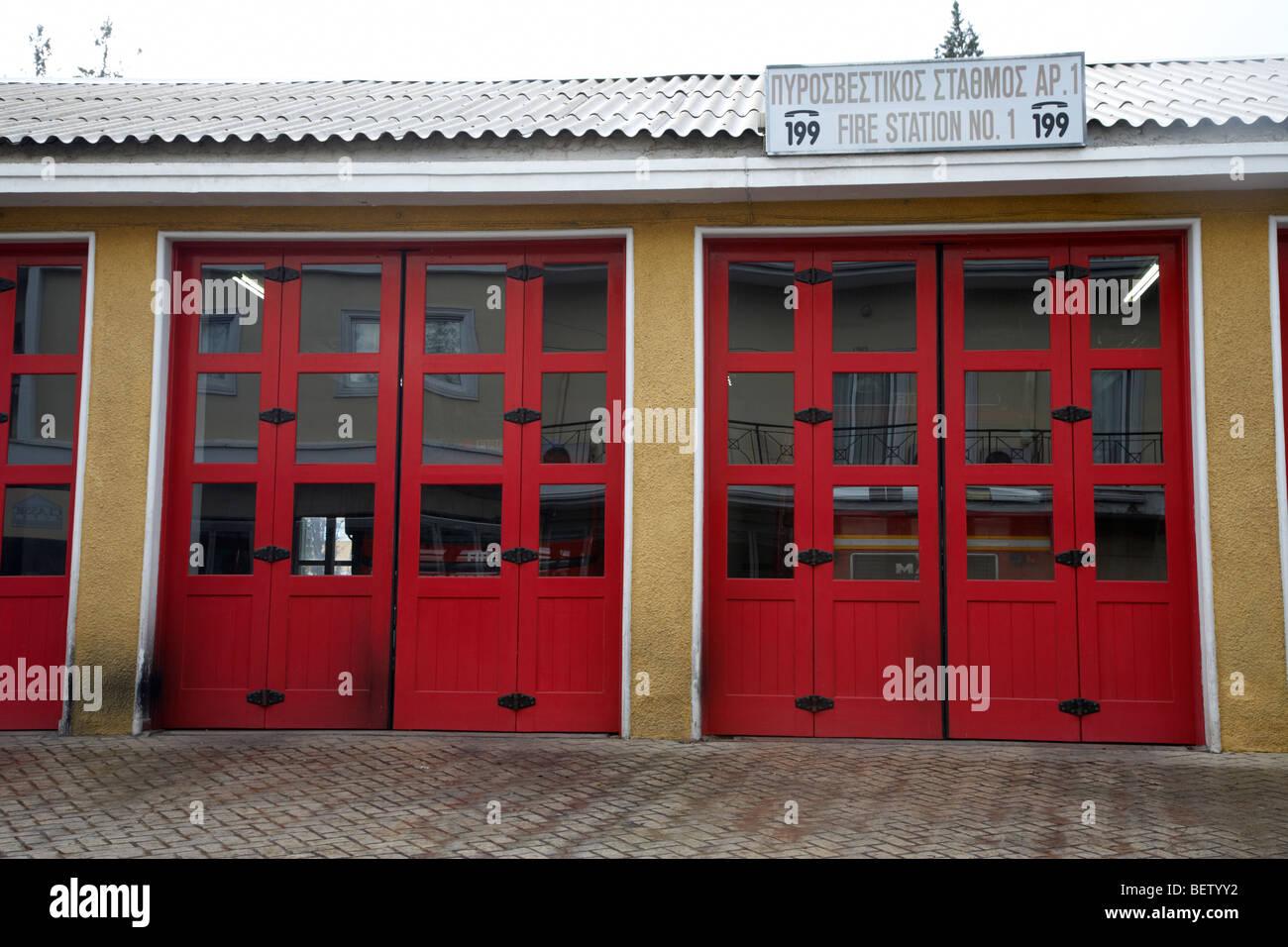 Brand Stationsnummer 1 in Nikosia Lefkosia Republik Zypern Stockbild