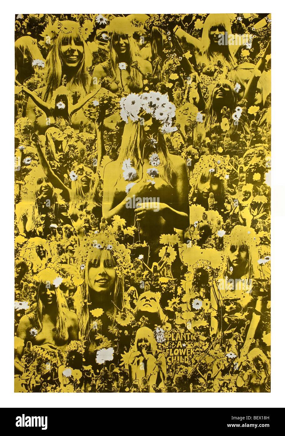 """Oz-Magazin-Nummer 5 """"Plant ein Blumenkind"""" im Jahr 1967 ausgegeben Stockfoto"""