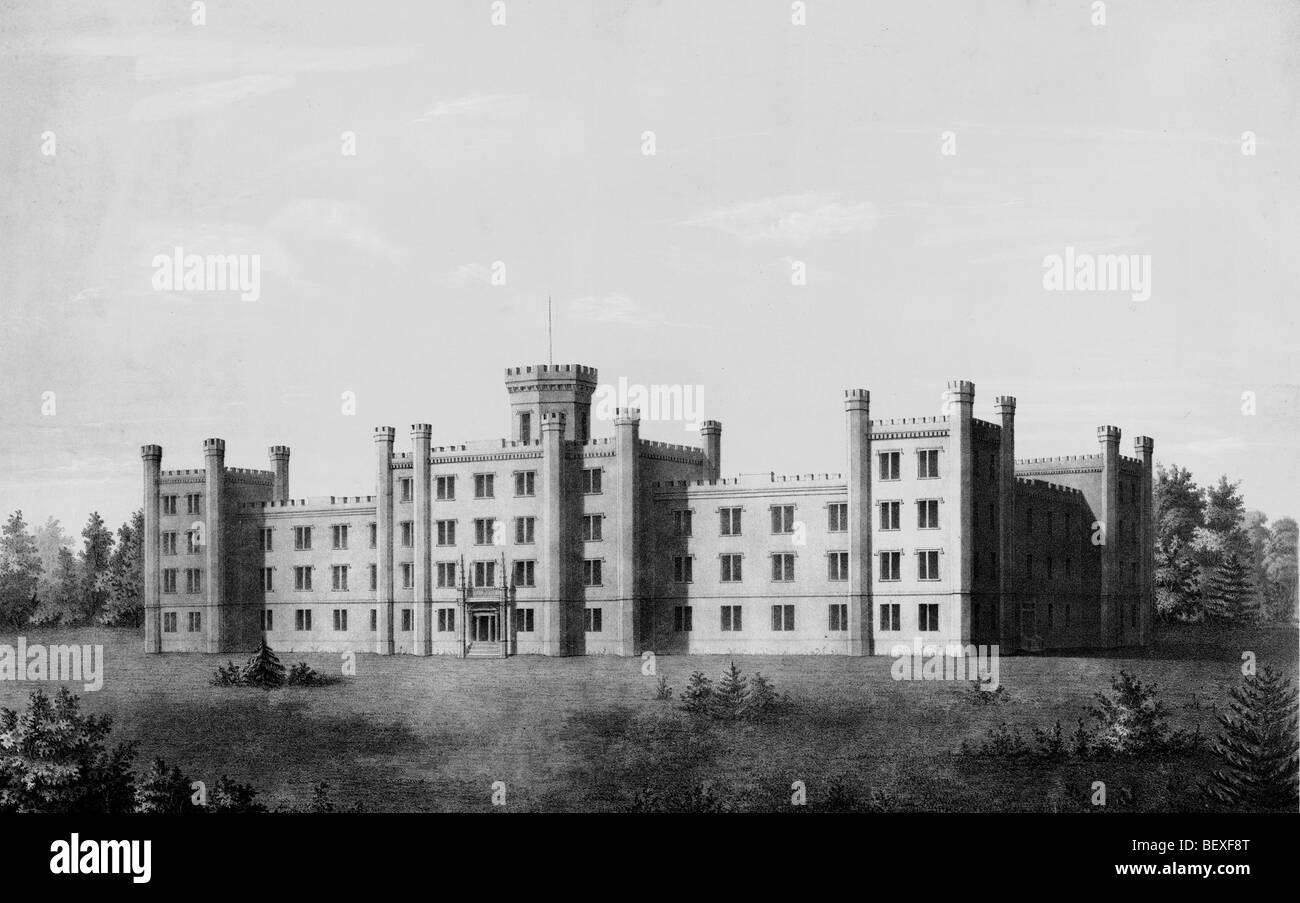 Tennessee State Hospital für Geisteskranke. In der Nähe von Nashville, Tennessee, um 1900 Stockbild
