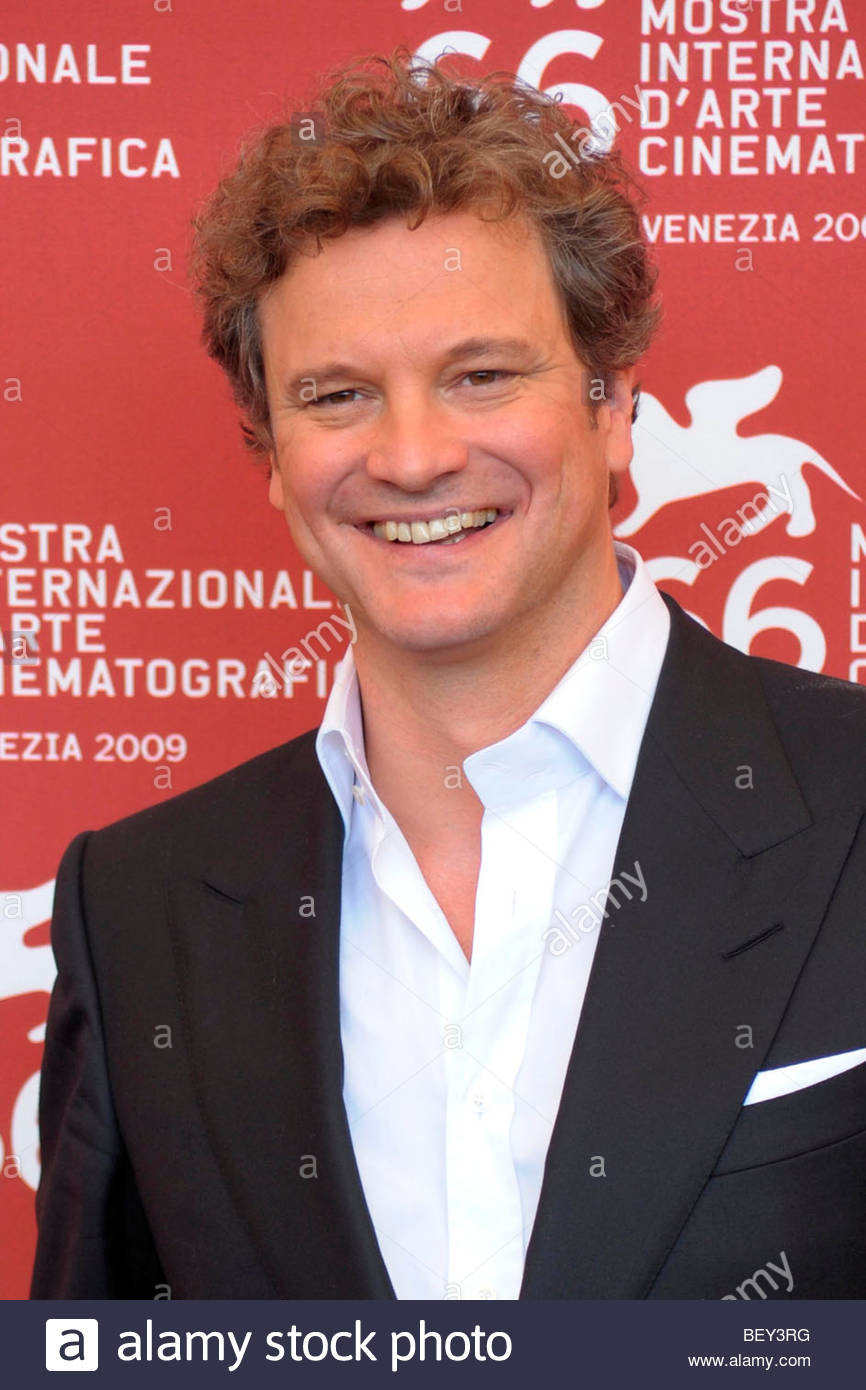 "Colin Firth, Venedig 2009, 66. Internationalen Filmfestspiele von Venedig "" Stockbild"