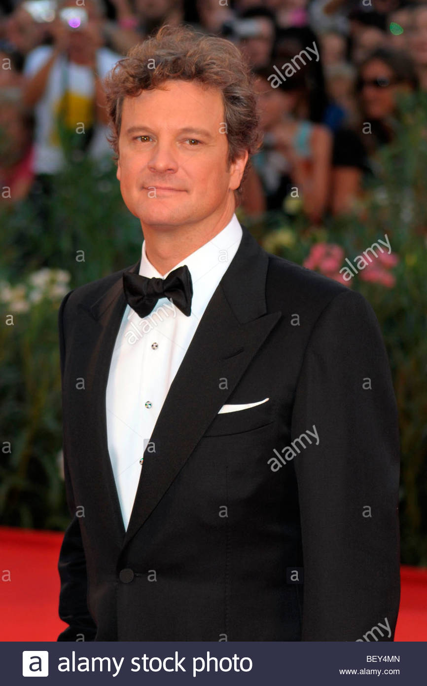 Colin Firth, Venedig 2009, 66. Internationalen Filmfestspiele von Venedig Stockbild