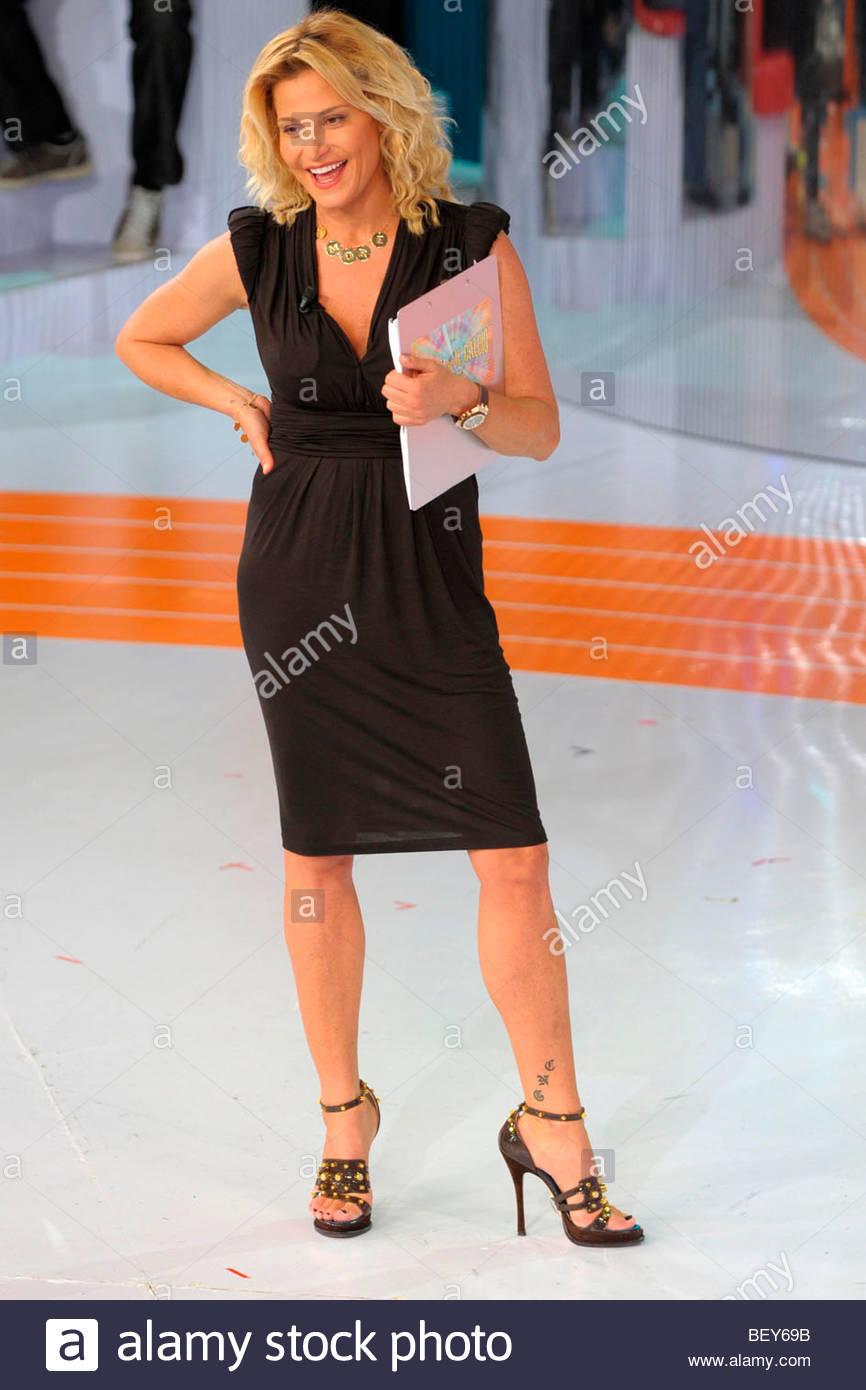 Simona Ventura, Mailand 2009, Quelli Che il Calcio TV-Programm Stockbild