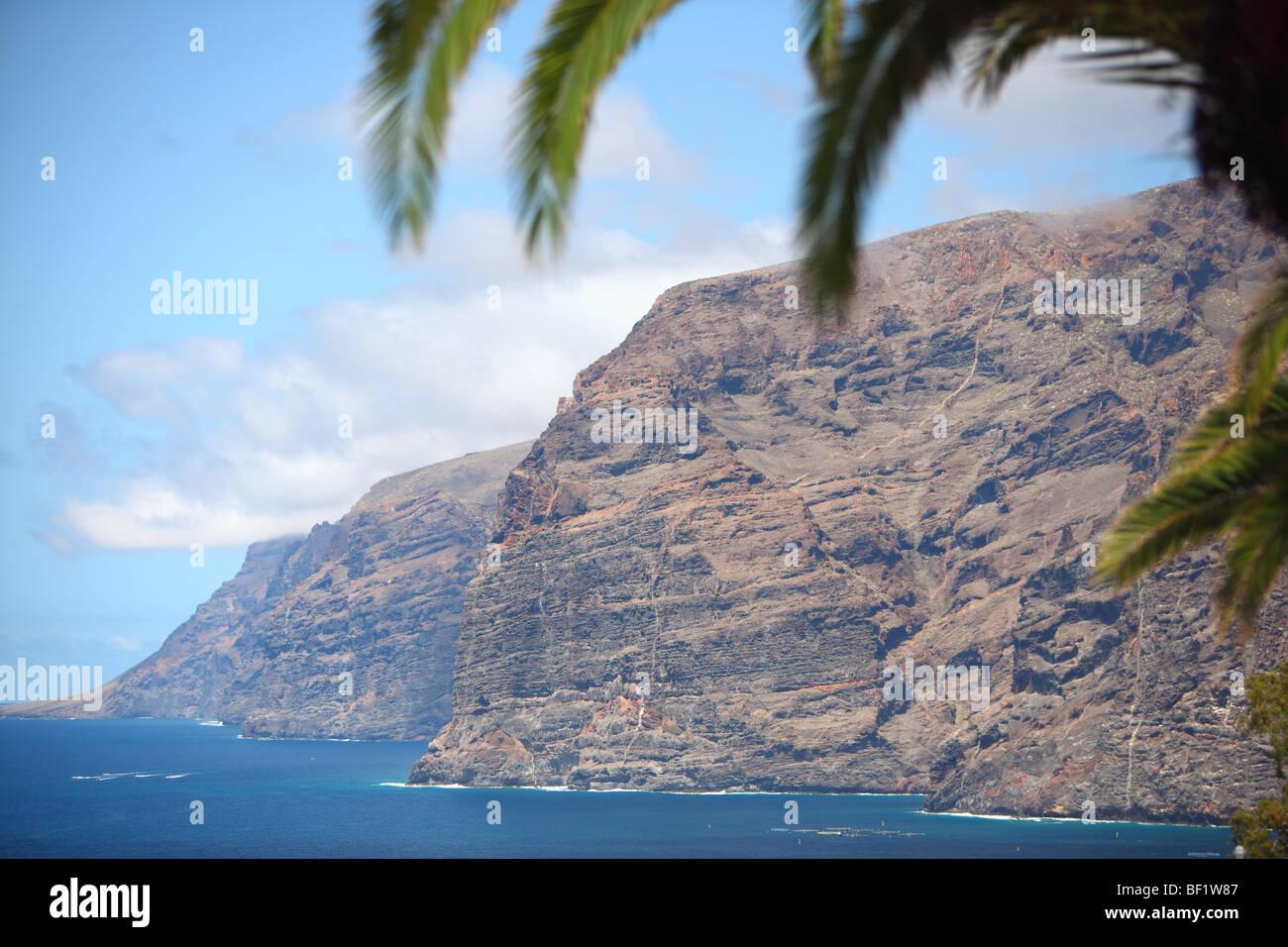 Puerto de Santiago, Teneriffa, Kanarische Inseln, island, Spanien, Outlook Los Gigantes Stockfoto