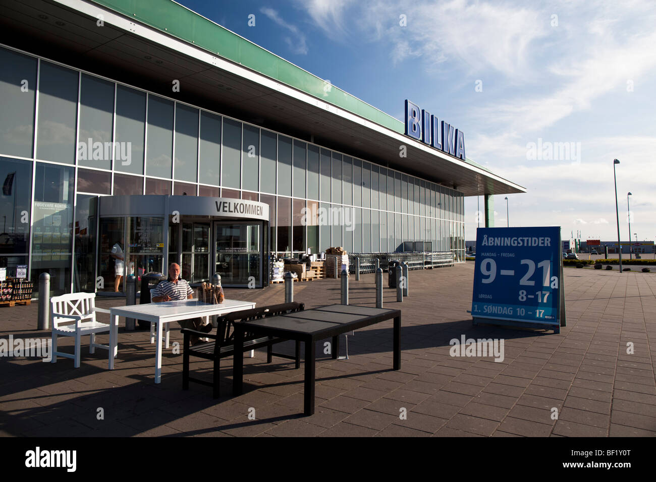 Echte Lager Von Dem Bilka In Viborg Dänemark Stockfoto Bild