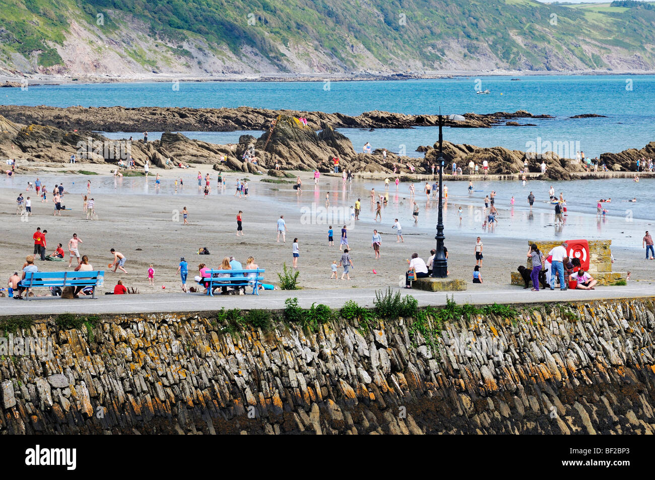 Looe Strand, Cornwall, UK Stockbild
