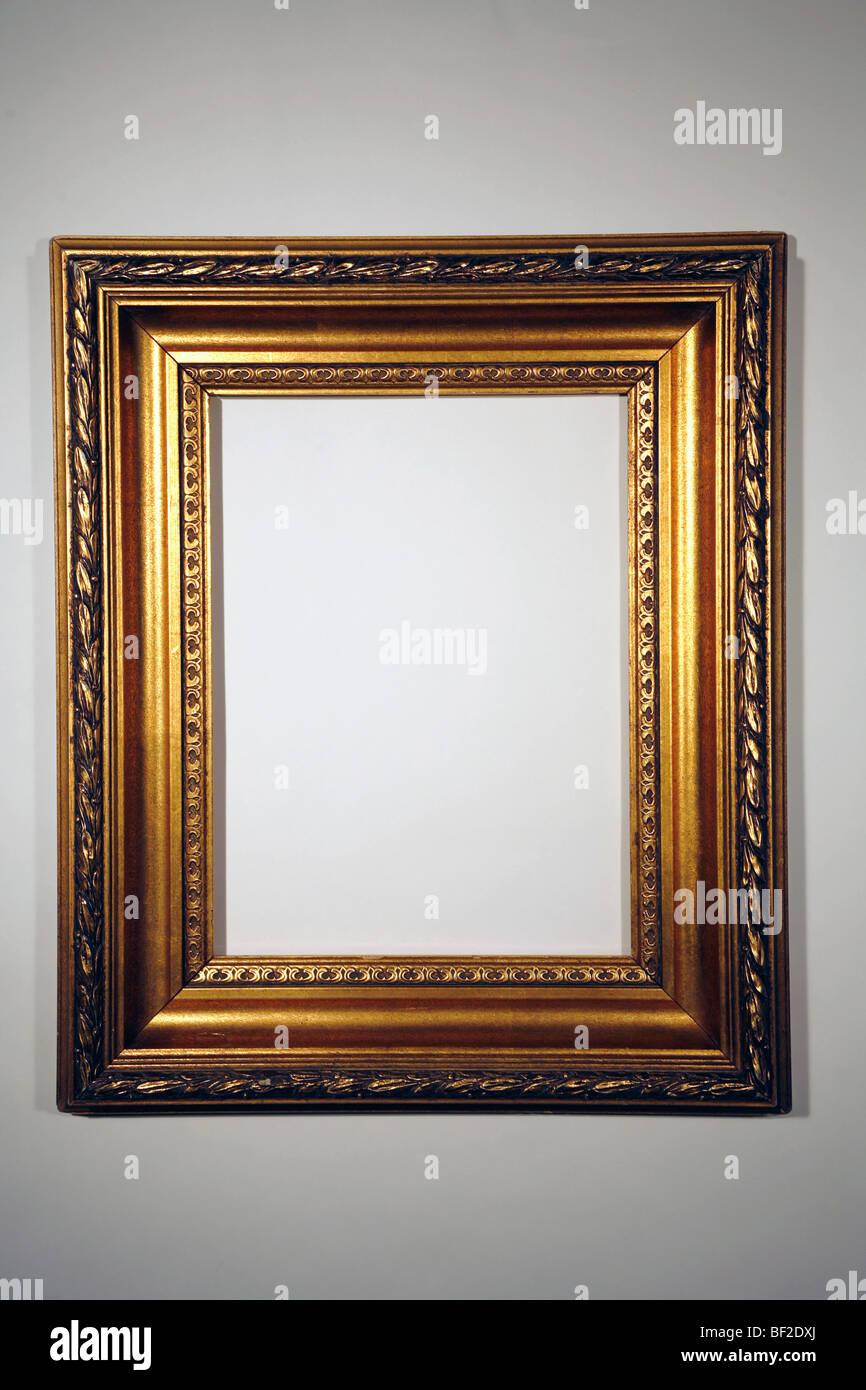 schönen Goldrahmen, Blattgold, vergoldeten, classic, Rahmen Stockbild