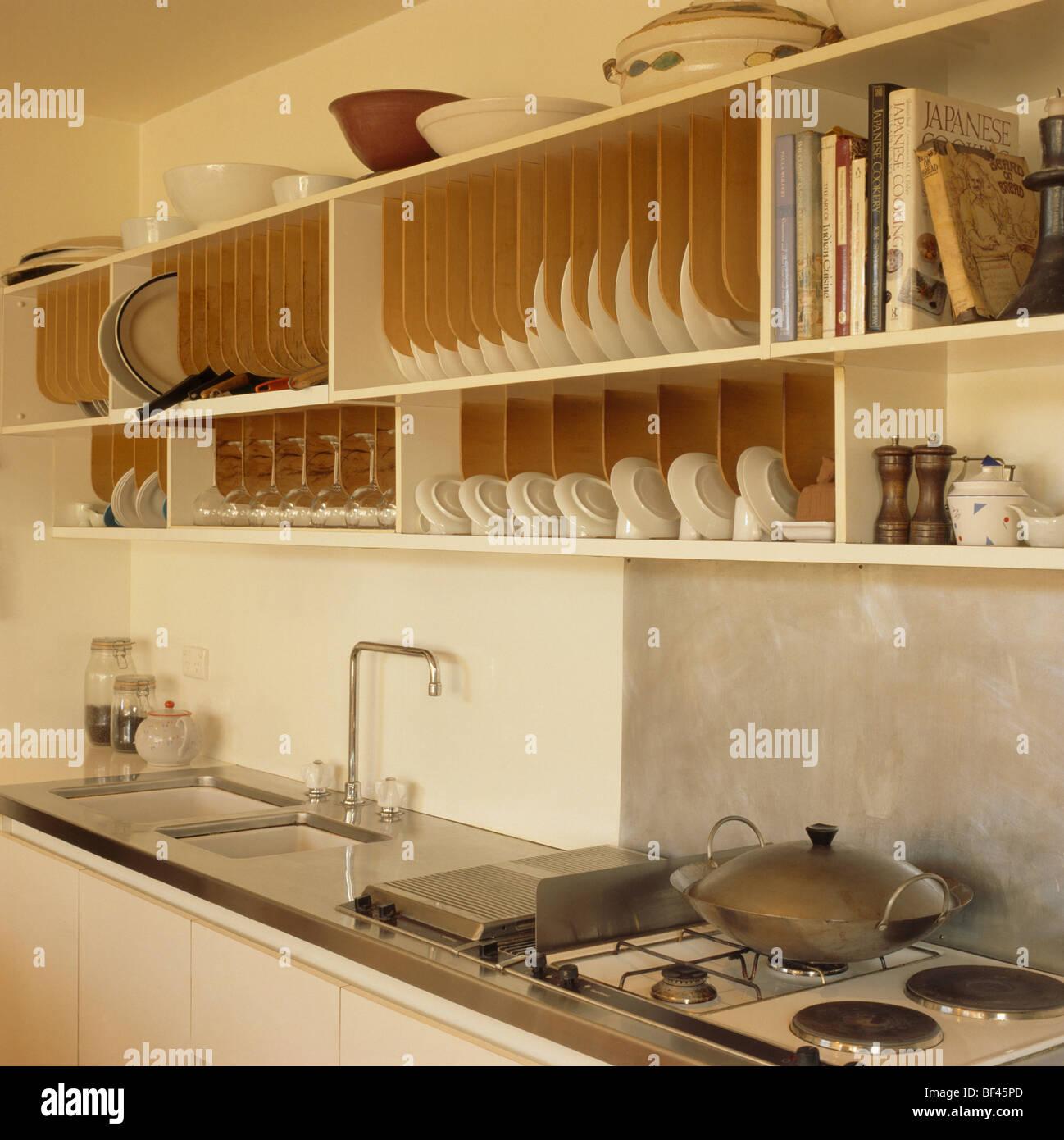 Shelves Above Kitchen Sink Stockfotos & Shelves Above Kitchen Sink ...