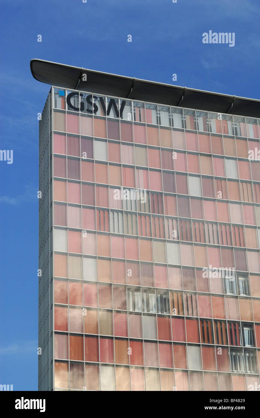 Berlin. Deutschland. GSW-Gebäude. Stockbild