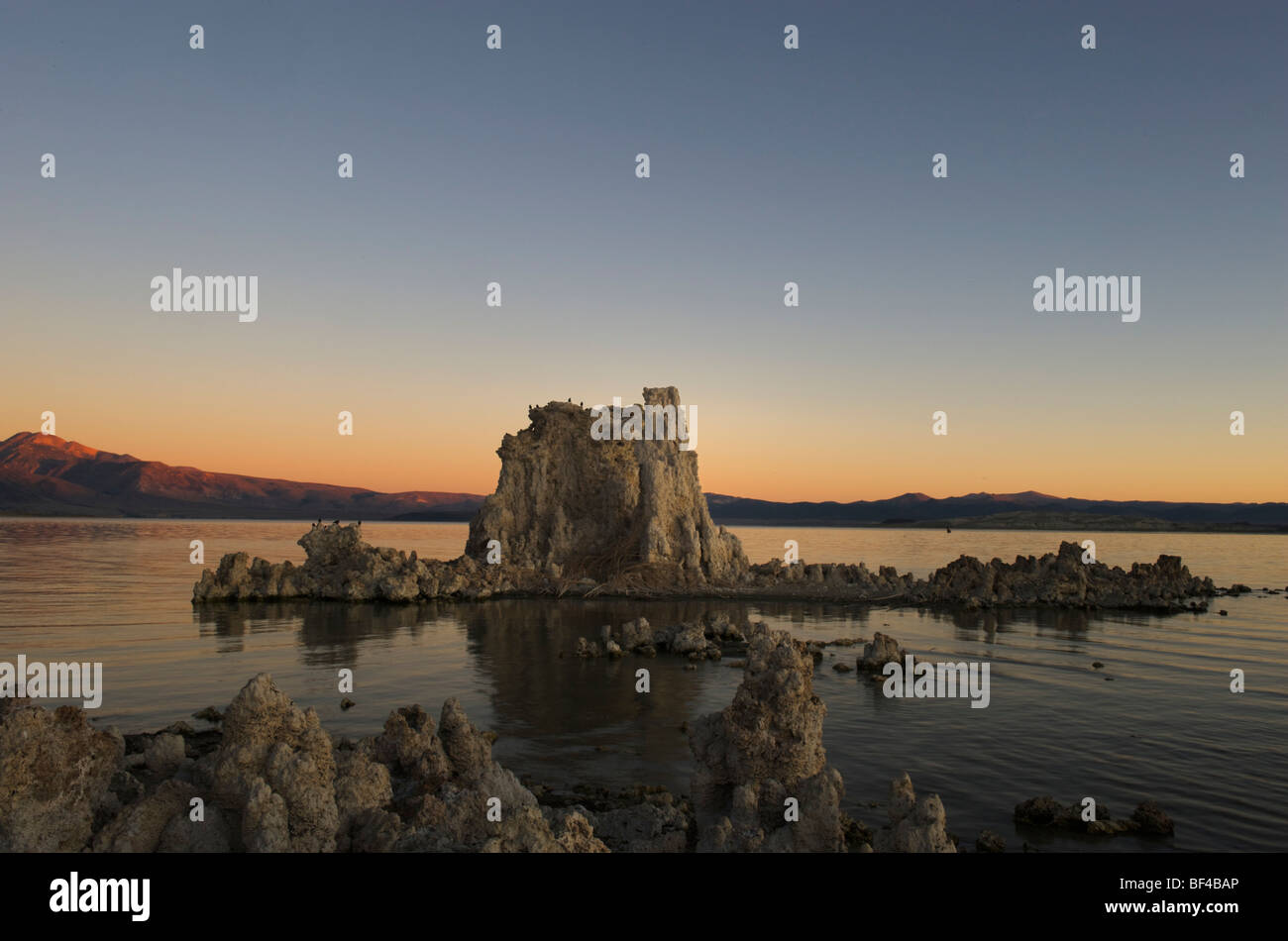 Sonnenaufgang am South Tufa, Mono Lake, Lee Vining, California, USA Stockbild