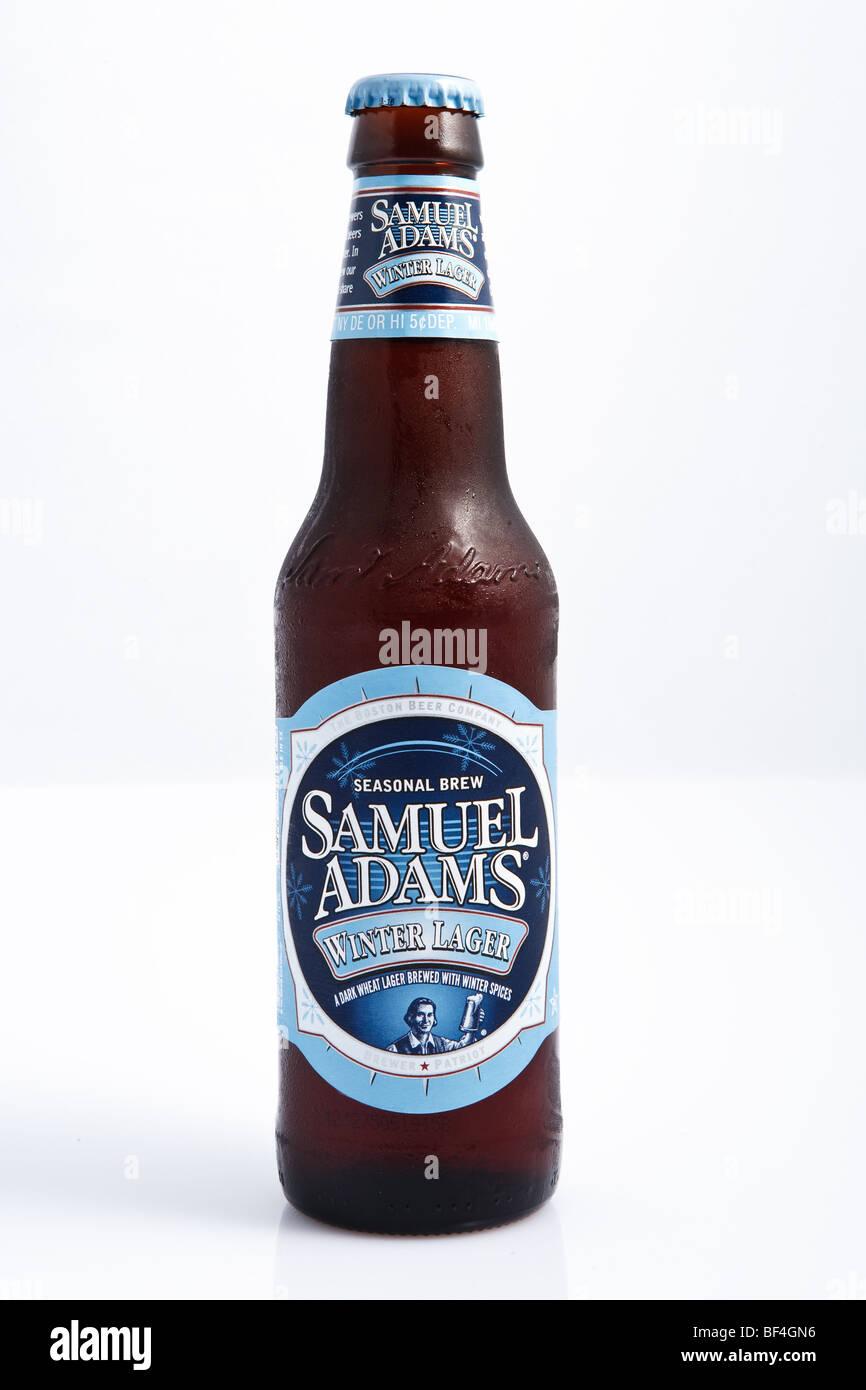 Eine kalte Flasche Bier Stockbild