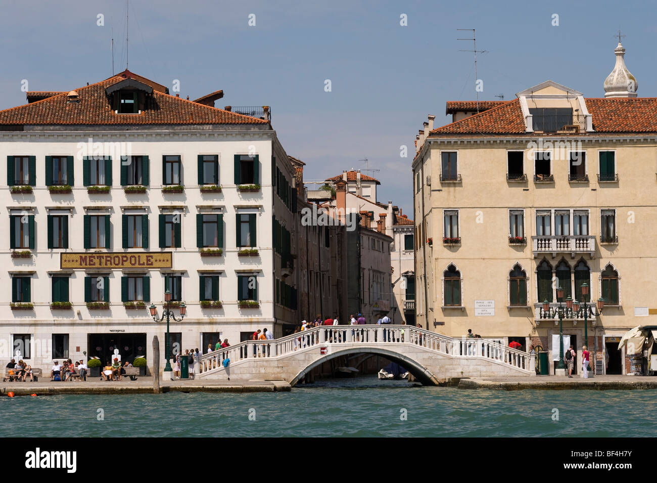 Hotel Metropole, Ponte del Sepolcro, Venedig, Veneto, Italien, Europa Stockbild