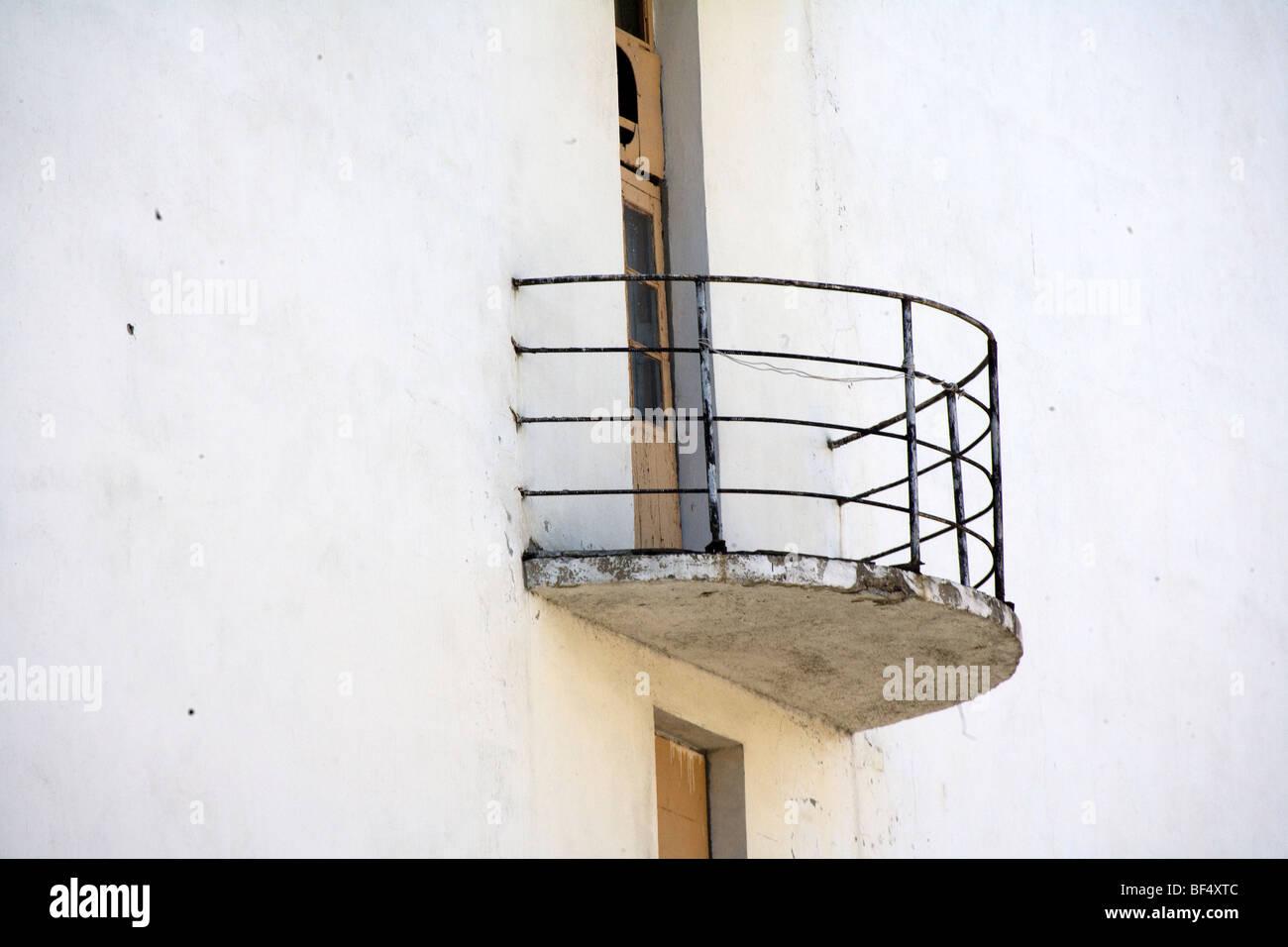 Russischen Modernistischen Stil Mit Weiss Getunchten Wohnhaus Mit
