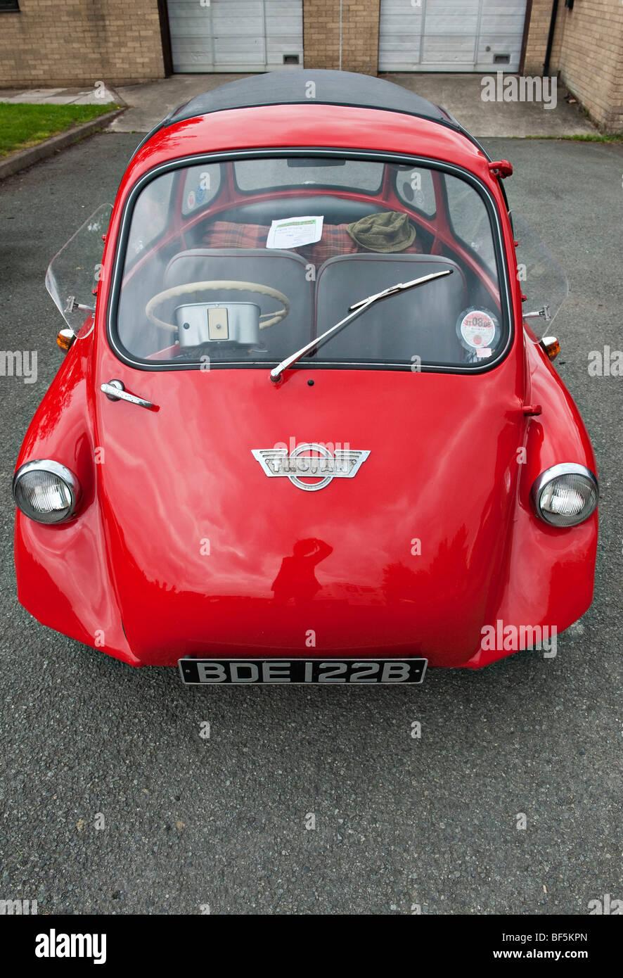 Ein 3-Rad-Trojan 200 Bubble Auto oder Microcar, gebaut in den frühen ...