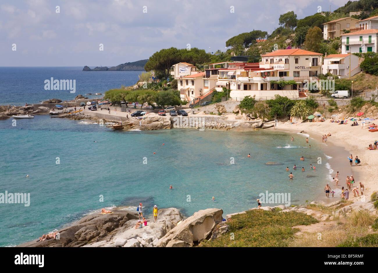 Hotel La Stella Bucht Strand Seccheto Insel Elba Toskana