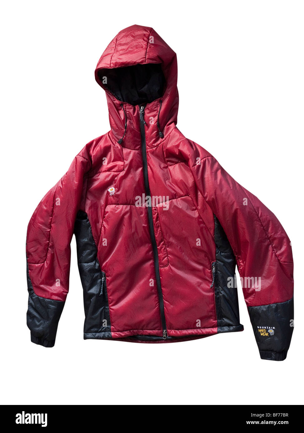 PrimaLoft gefüllt isolierte alpine Jacke Ausschnitt Stockbild