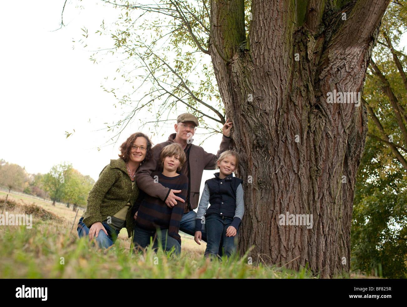 Familienporträt, Deutschland Stockbild
