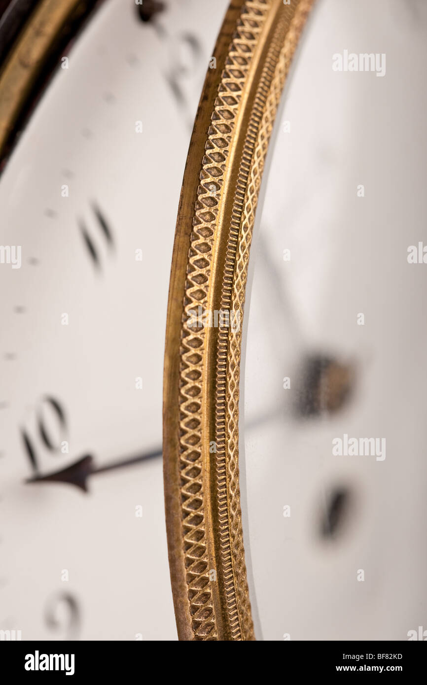 Nahaufnahme des historischen Antike Uhr, Makro-Objektiv Stockbild