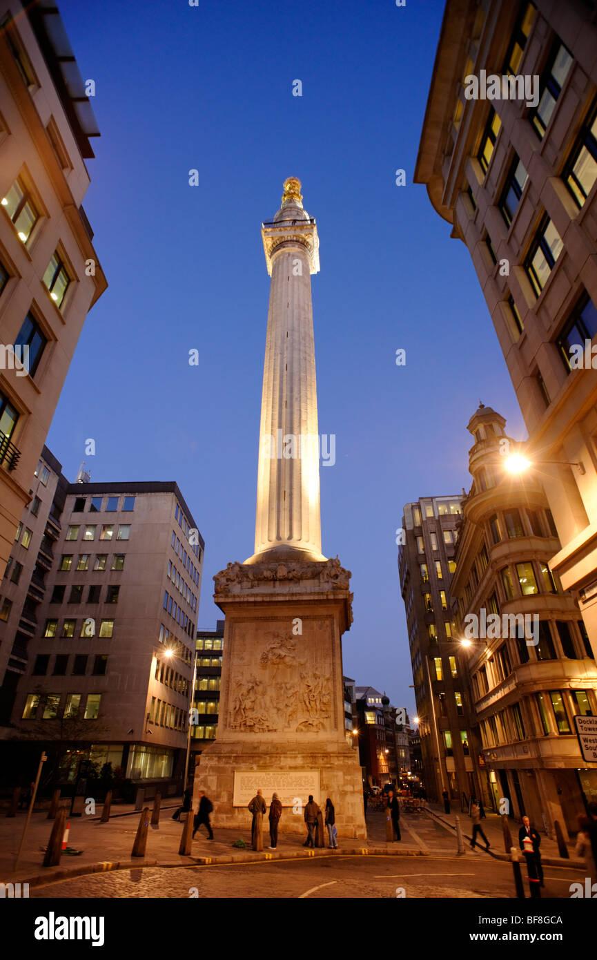 Das Denkmal für den großen Brand von London. City of London. UK 2009. Stockbild
