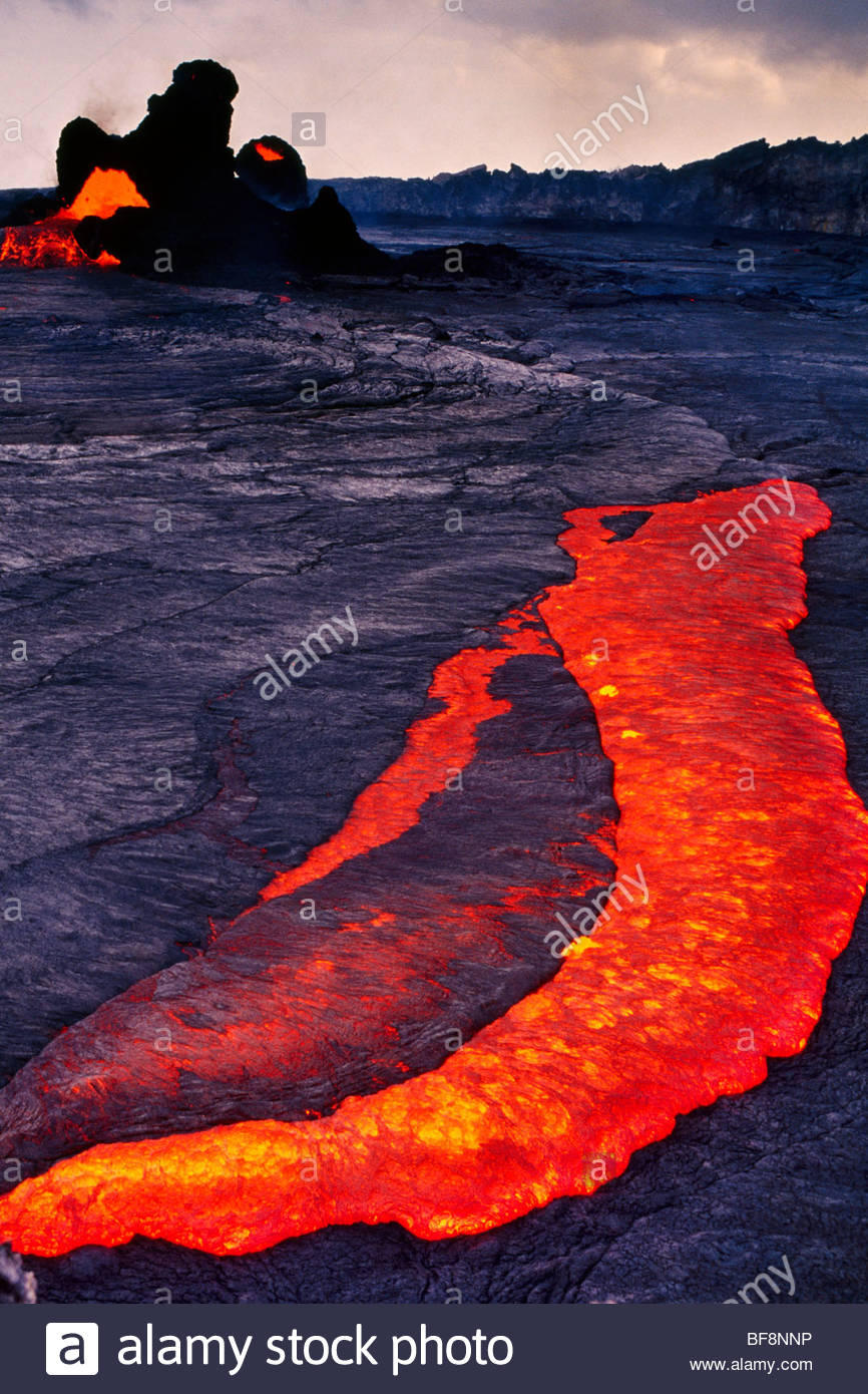 Lavasee in Mauna ' O'o, Hawai?i-Volcanoes-Nationalpark, Hawaii Stockbild
