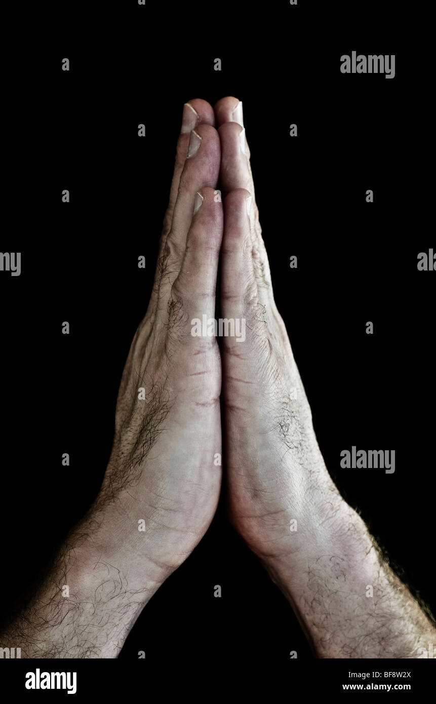 Händen zu beten Stockbild