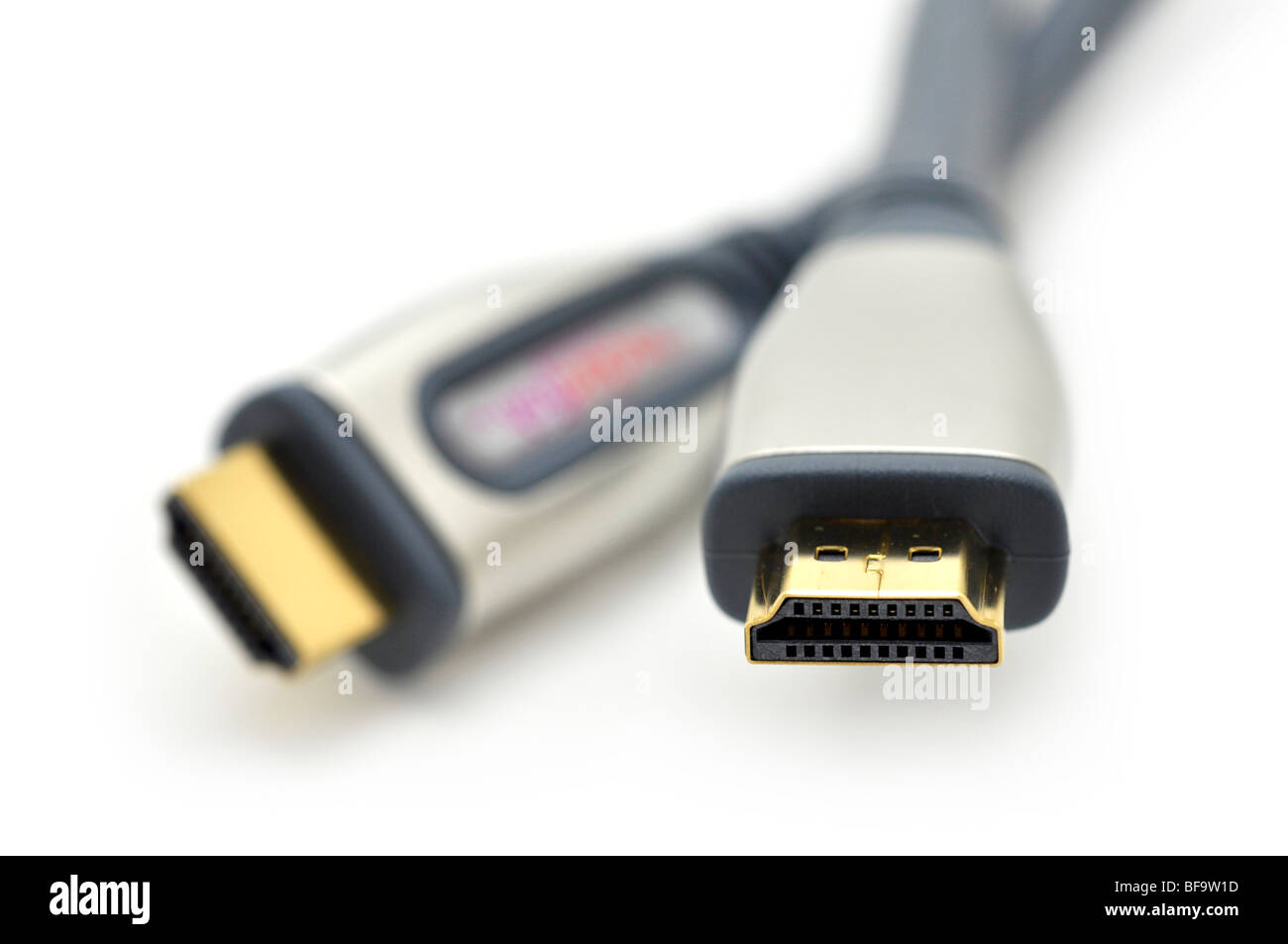 HDMI (High-Definition Media Interface)-Kabel-Anschlüsse Stockfoto