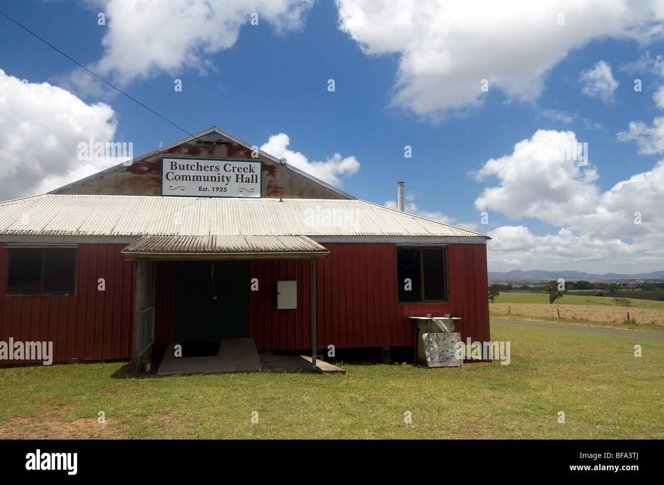Metzger Creek Community Hall, Atherton Tableland, Queensland, Australien. Keine PR Stockfoto